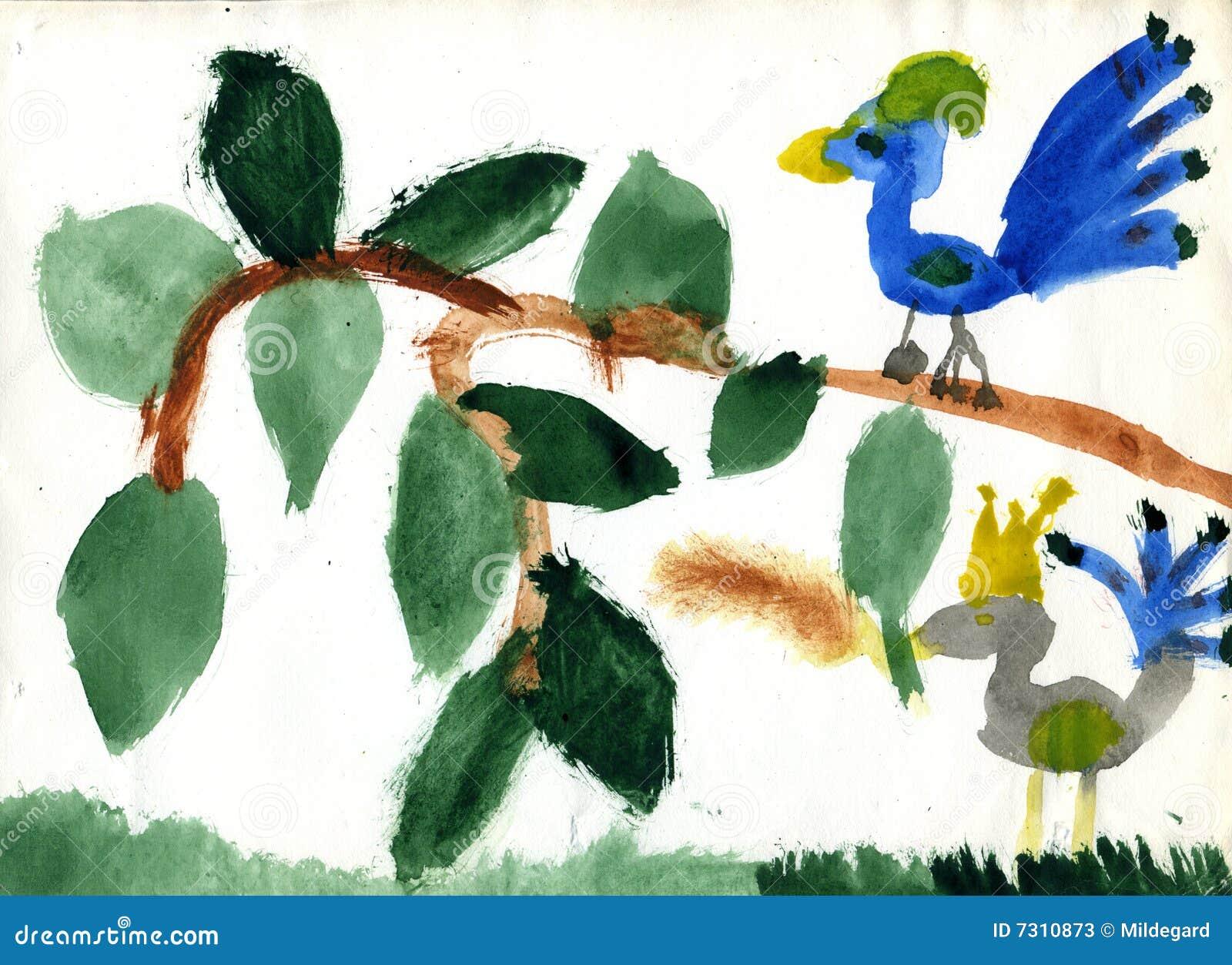 Uccello della regina ed uccello semplice