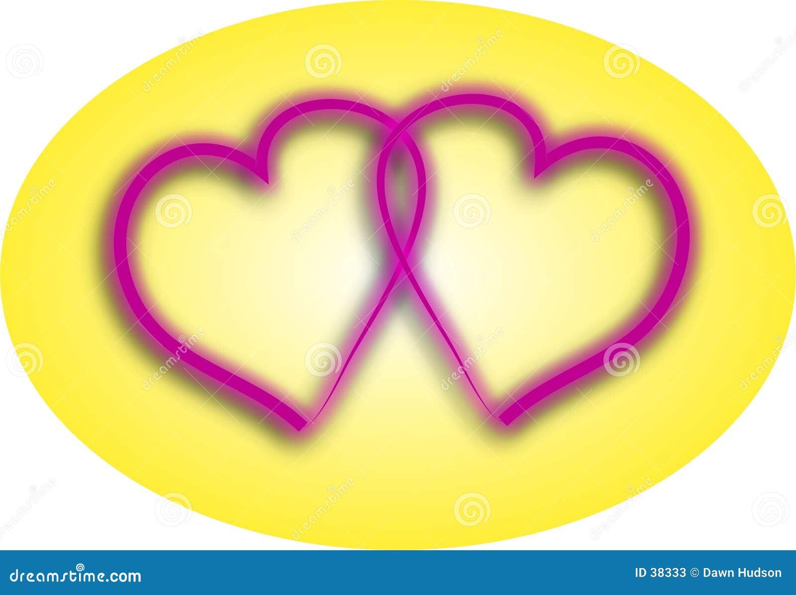 Download Uces Par De Corazones Del Amor Stock de ilustración - Ilustración de junto, corazones: 38333