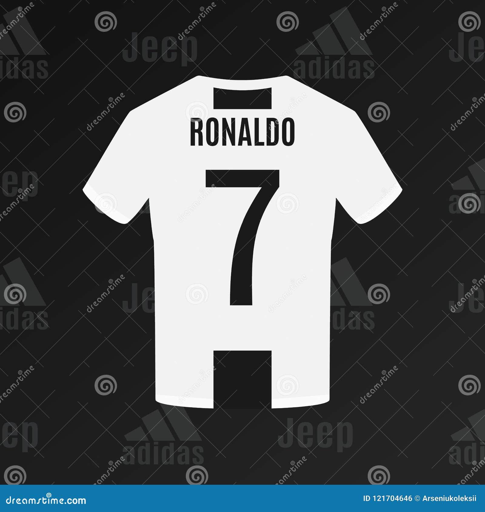 UCRÂNIA - CHERKASY t-shirt do futebol do ` s Juventus de Ronaldo do 17 de julho de 2018