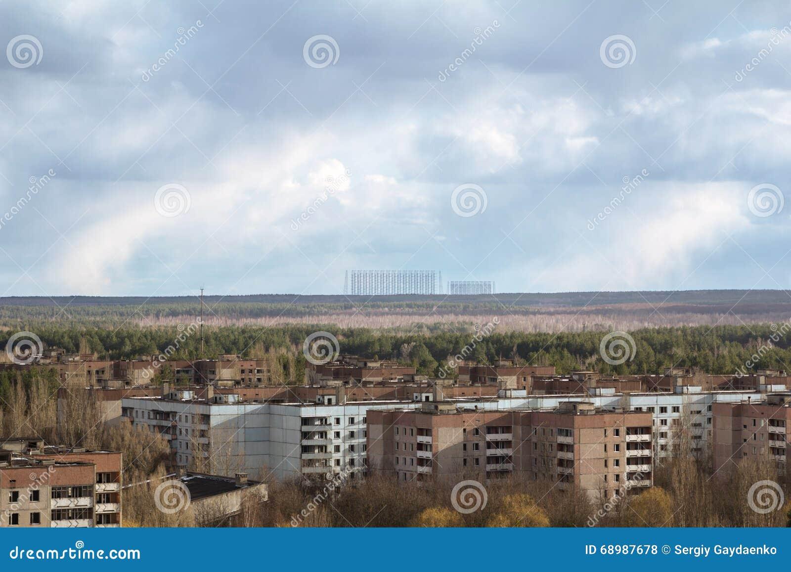 Ucrania Zona de exclusión de Chernóbil - 2016 03 19 Edificios en la ciudad abandonada de Pripyat
