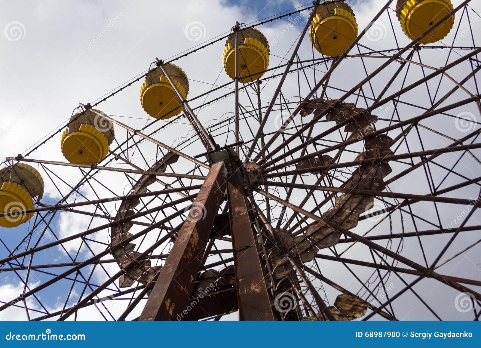 Ucrania Zona de exclusión de Chernóbil - 2016 03 19 Parque de atracciones abandonado en la ciudad de Pripyat