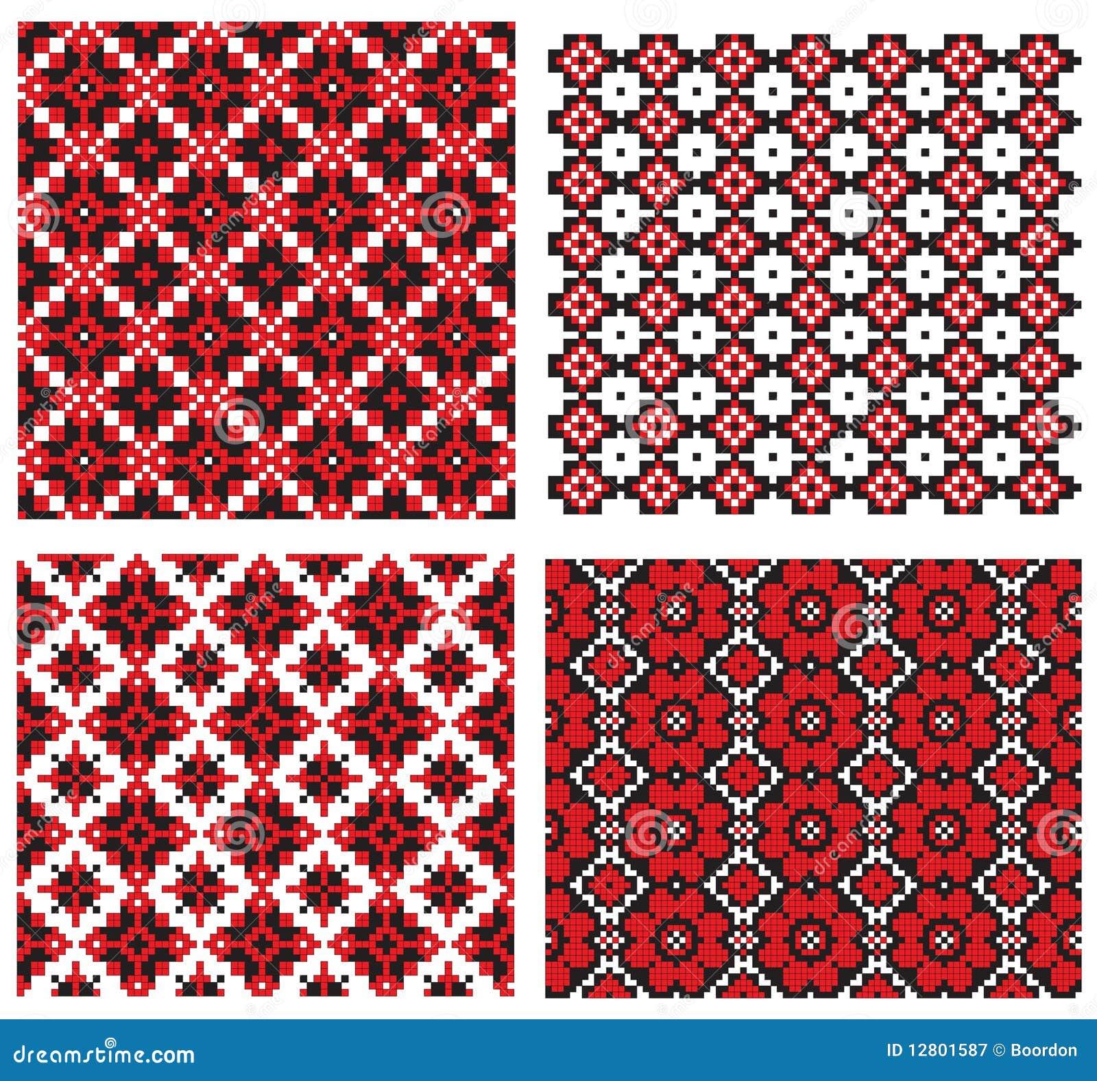 Ucraniano do bordado da textura