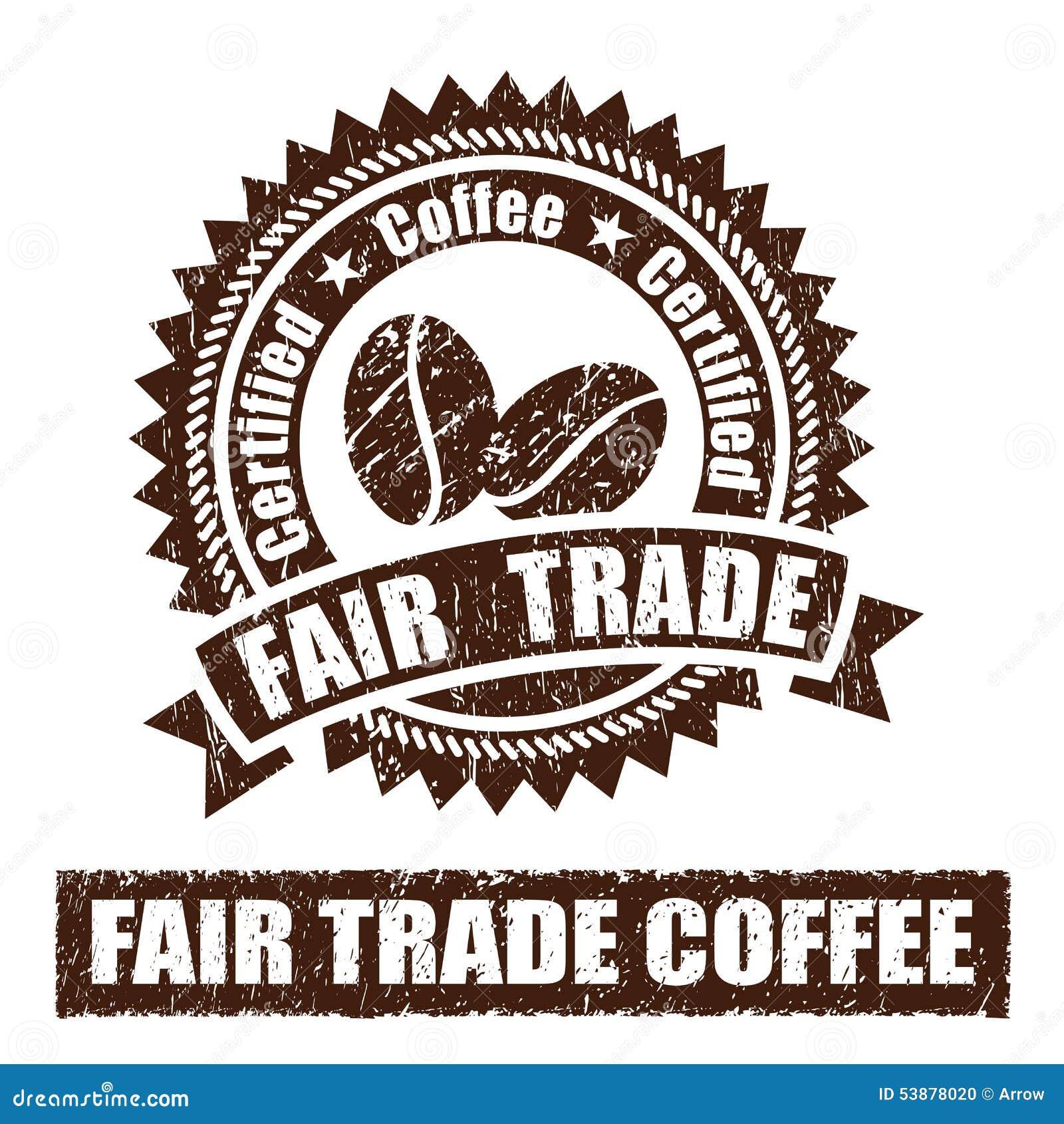 Uczciwy Handel kawy pieczątka