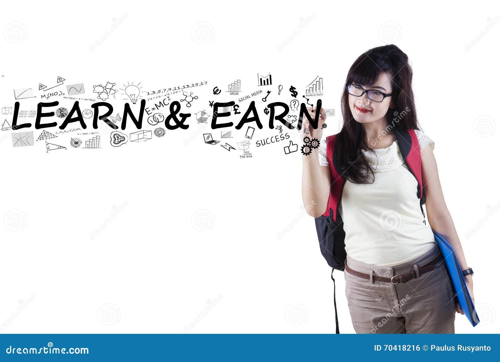 Uczeń pisze Uczy się i Zarabia
