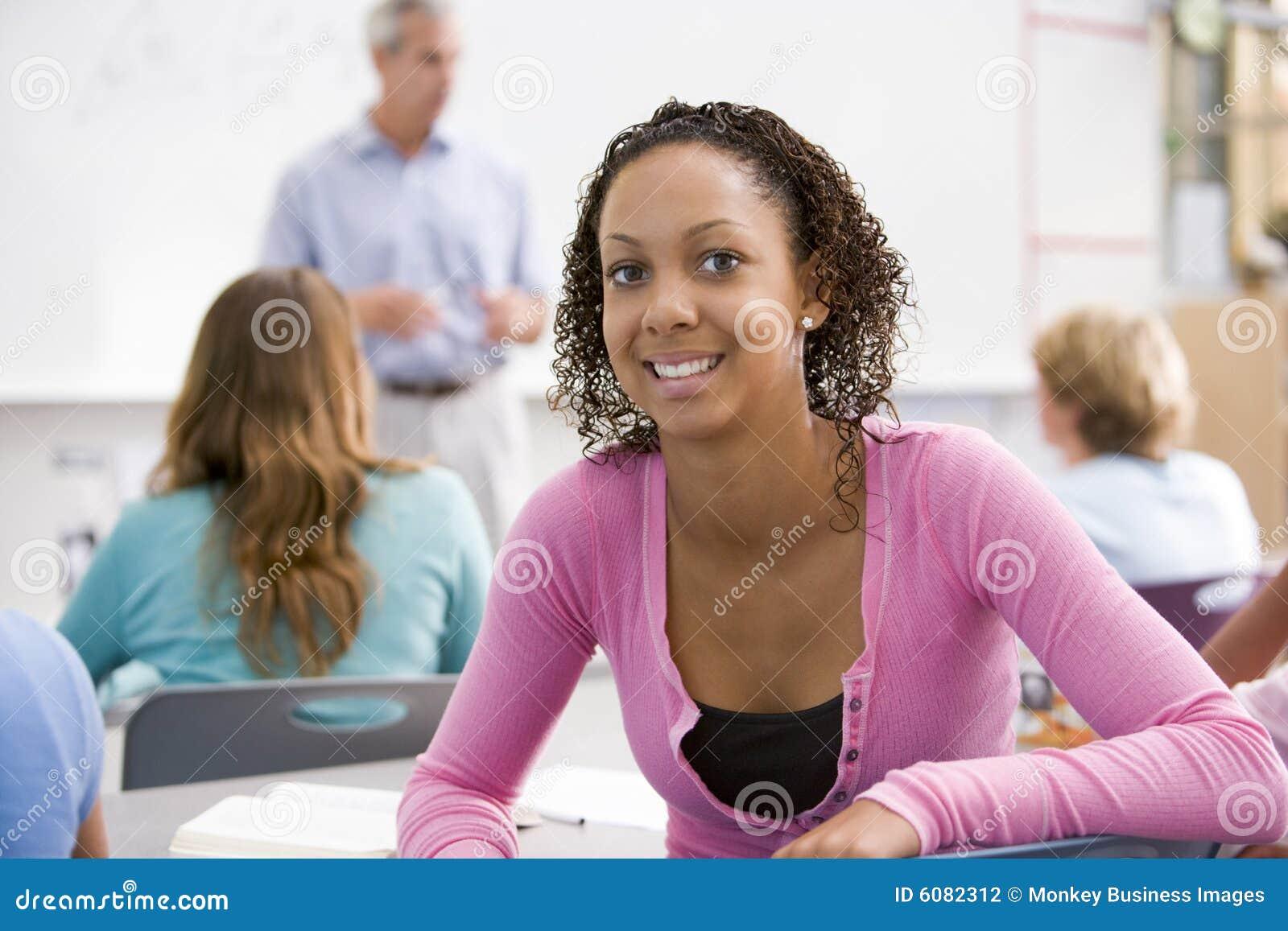 Uczennica szkoły średniej klasy
