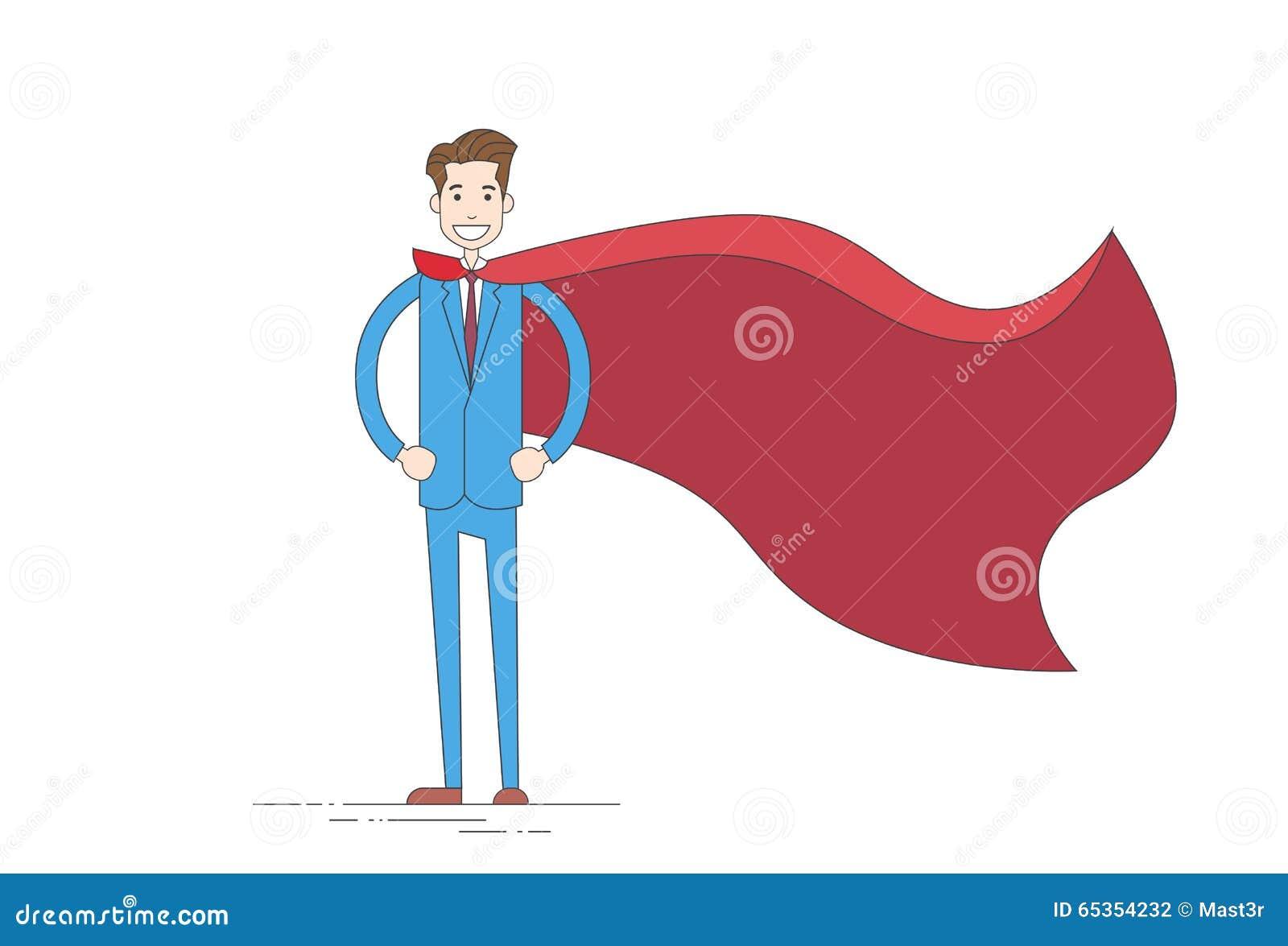 Udde för dräkt för affärsmanSuper Hero Cartoon kläder röd