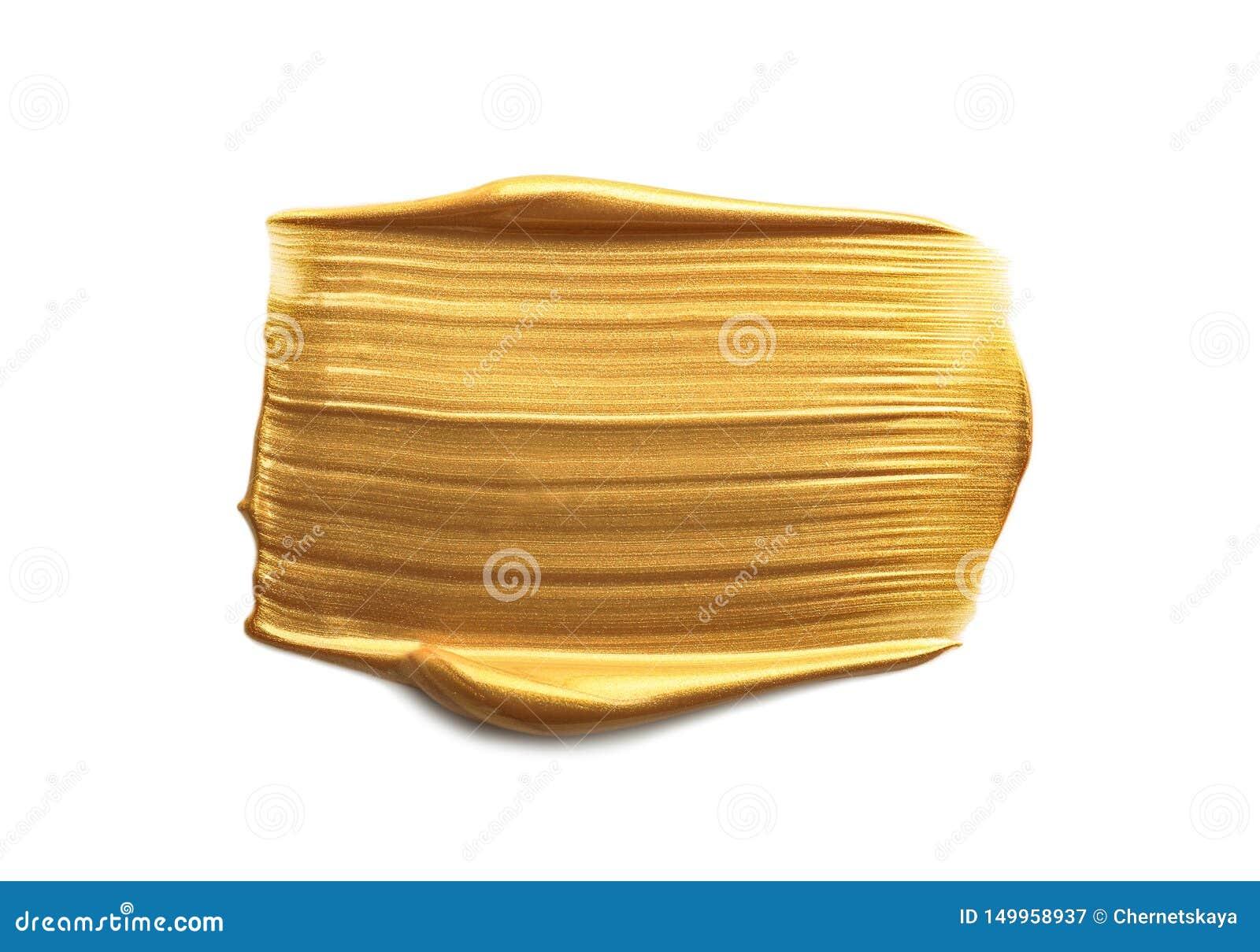 Uderzenie odizolowywający na bielu złocista farba