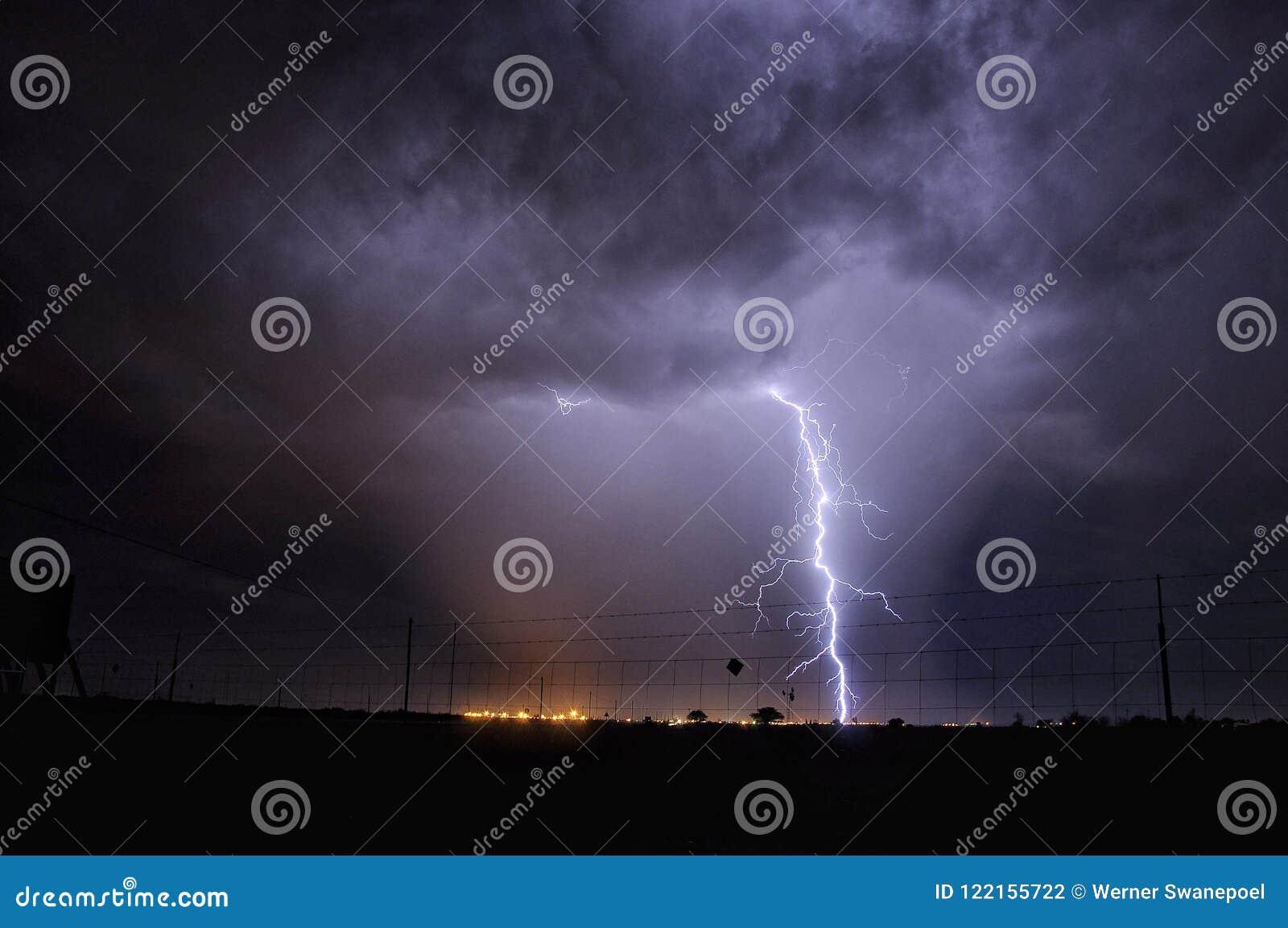 Uderzenie pioruna w Południowa Afryka