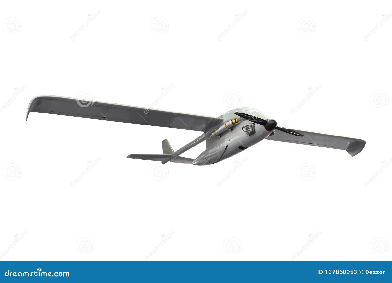 Uderzenie wojskowe lotniczego pojazdu UAV bojowi bezpilotowi samolotowi rozpoznawania szpiegują trutnia odizolowywającego