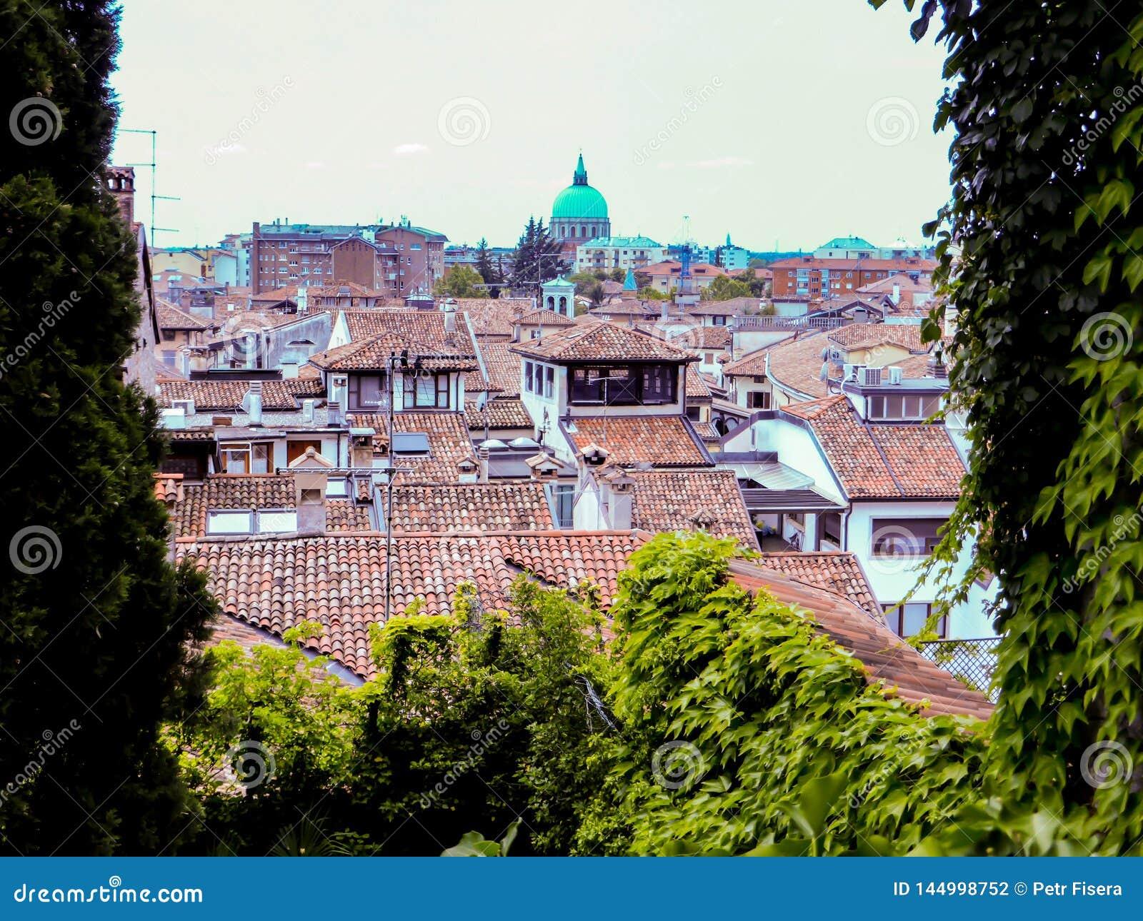 Udine Włochy - piękna fotografia miasto Udine