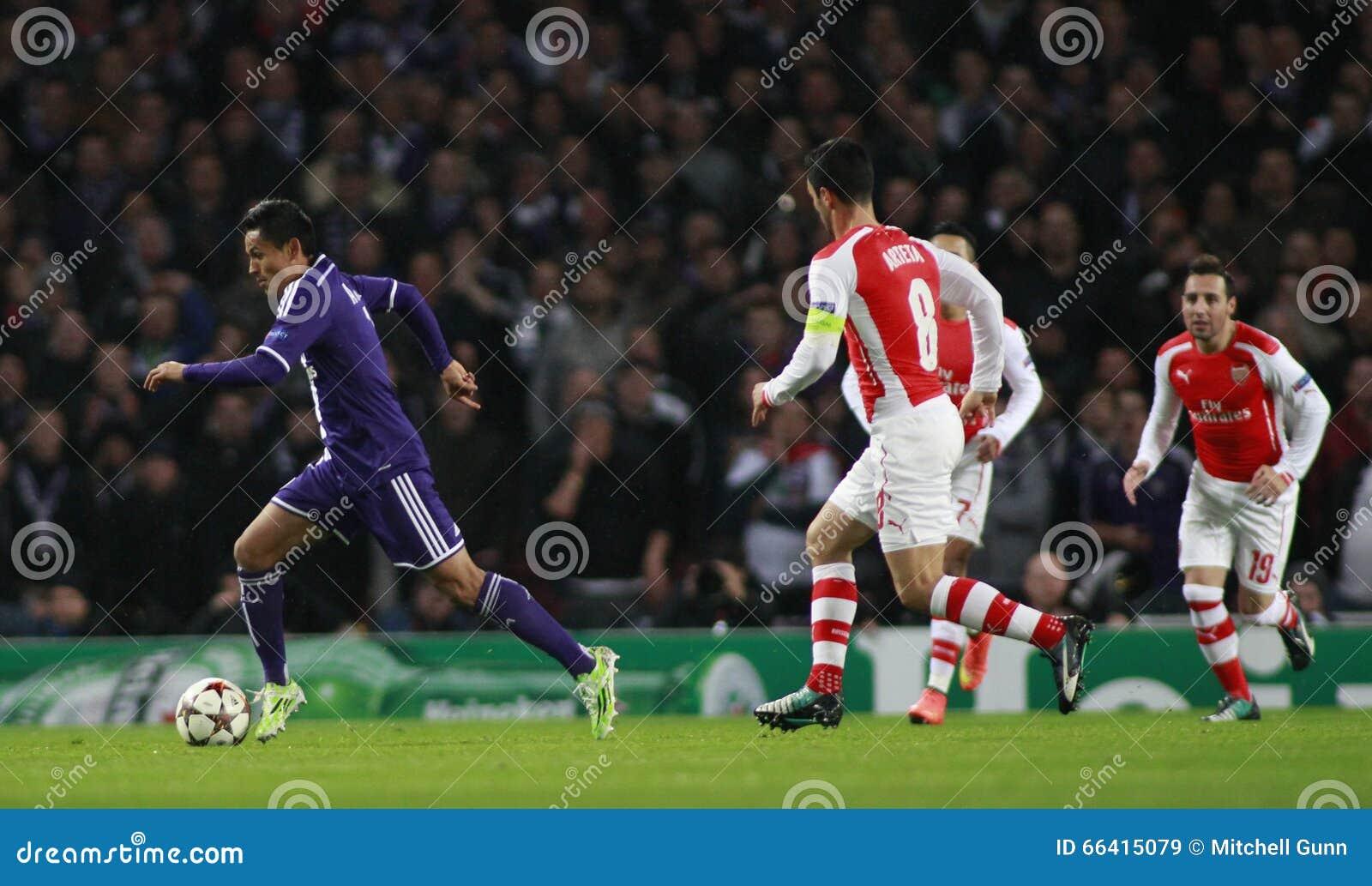 UEFA Champions League Arsenal V Anderlecht Editorial Stock ...