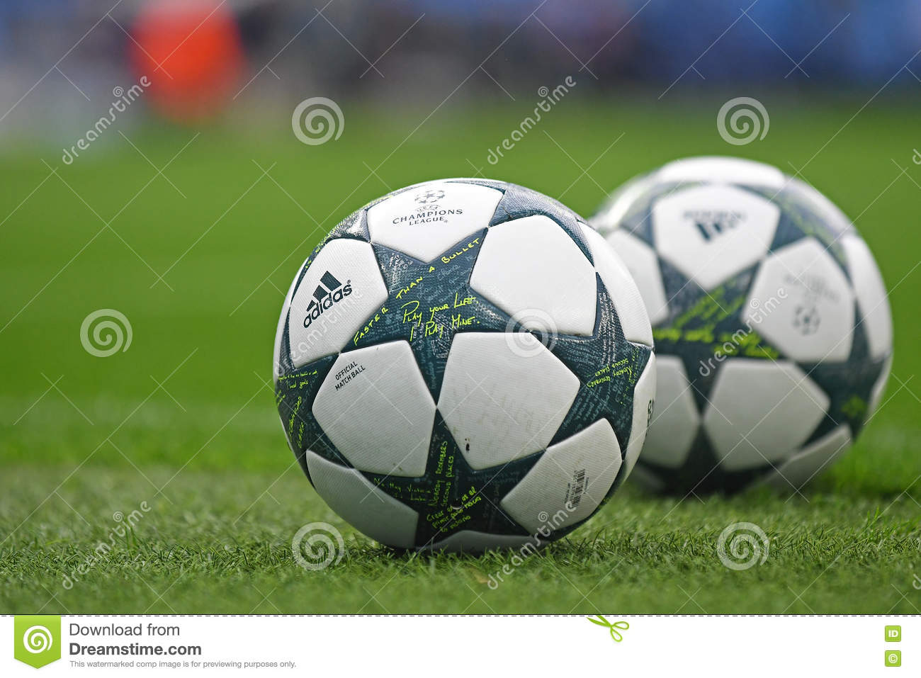 d563d32b9d2df 2016 2017 UEFA Champions League Official Ball Editorial Stock Photo ...