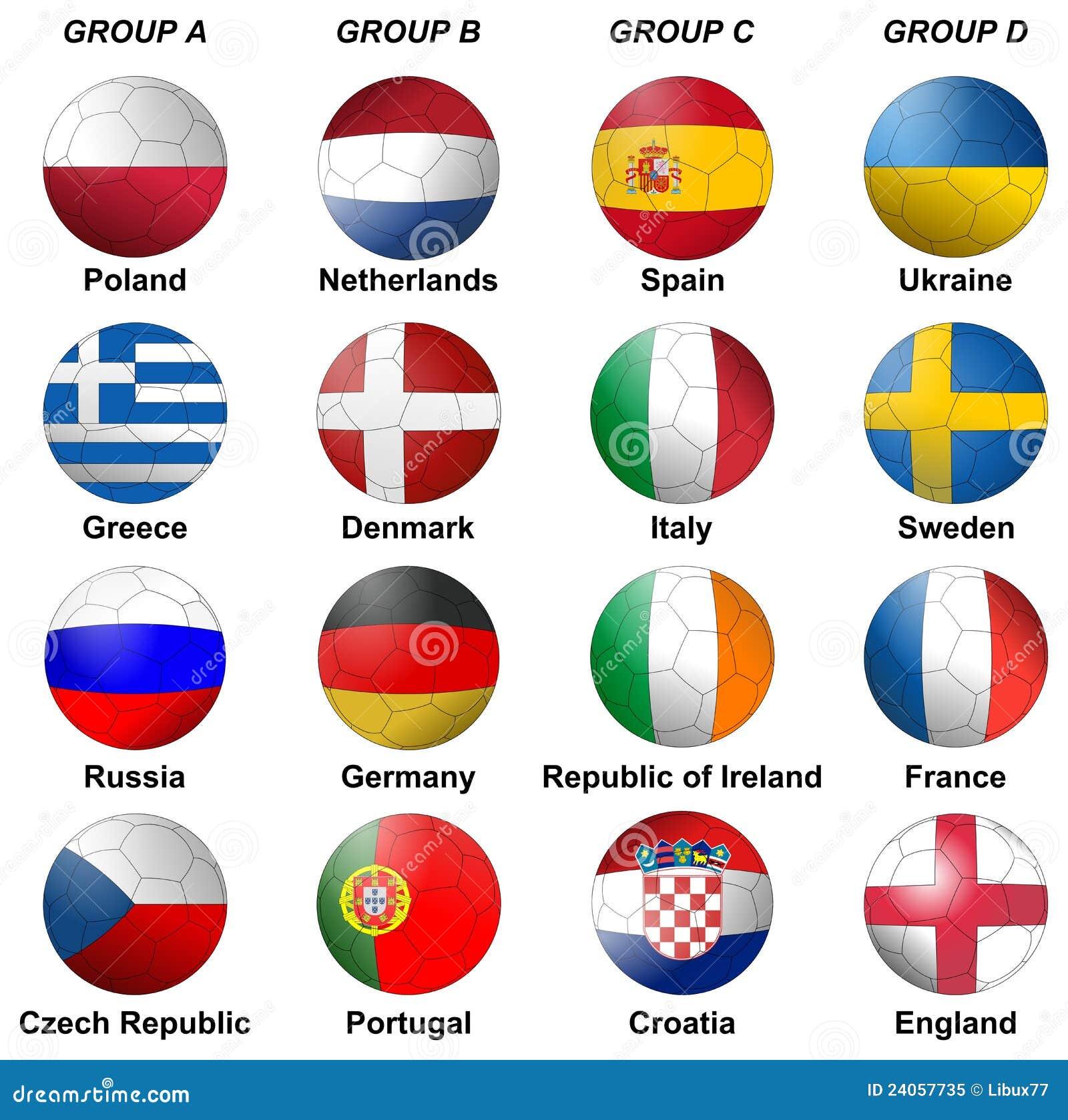 Uefa euro 2012 groups royalty free stock photo image for Euro 2012 groupe