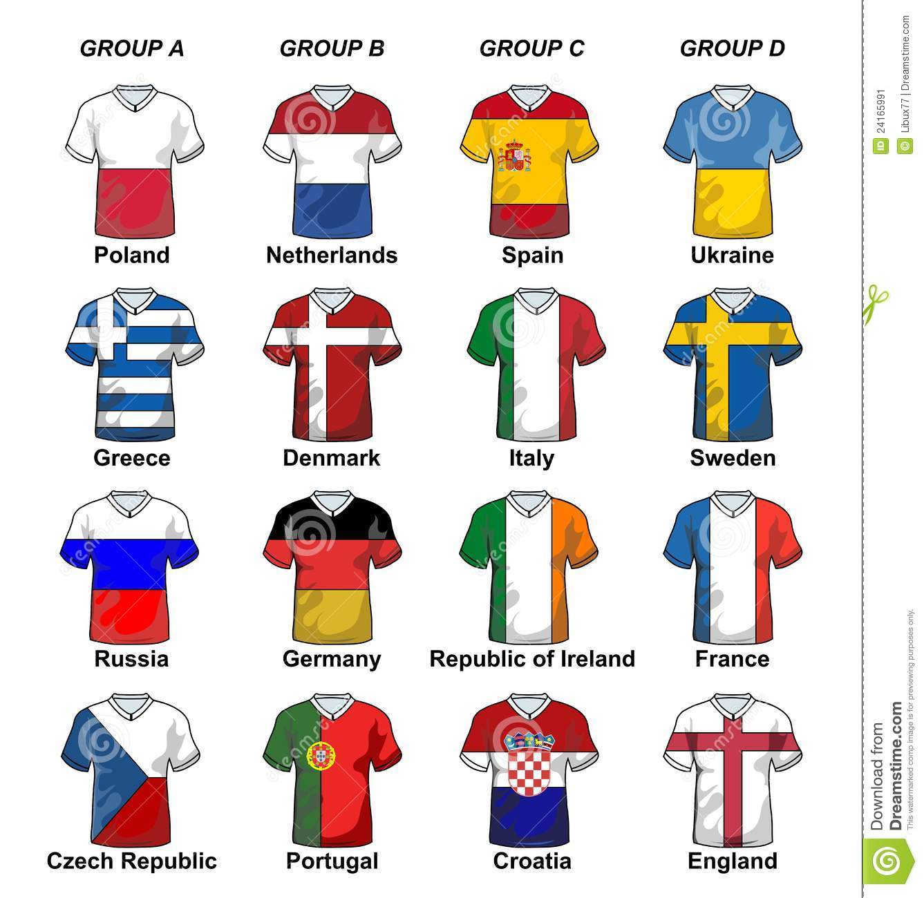 Football in holland colours stock image cartoondealer for Euro 2012 groupe
