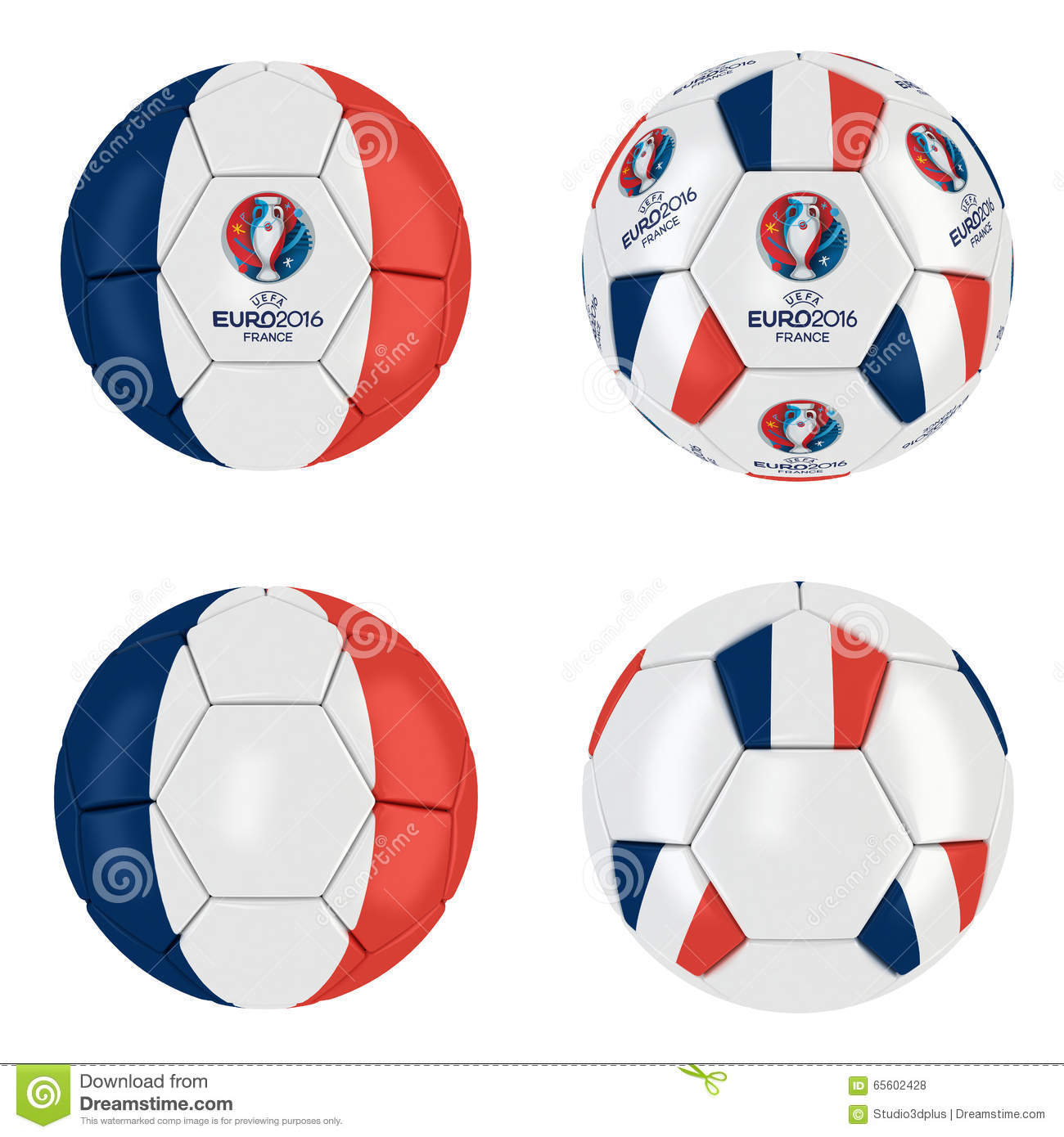 uefa euro 2016 france ball collection editorial stock. Black Bedroom Furniture Sets. Home Design Ideas