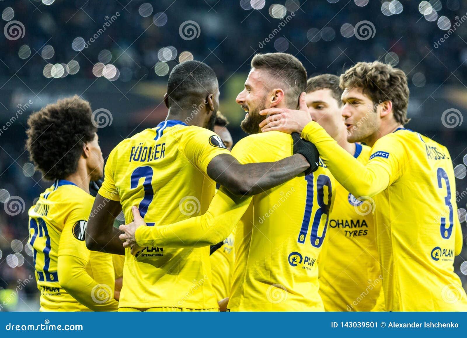 UEFA Europa League football match Dynamo Kyiv – Chelsea, March 14, 2019