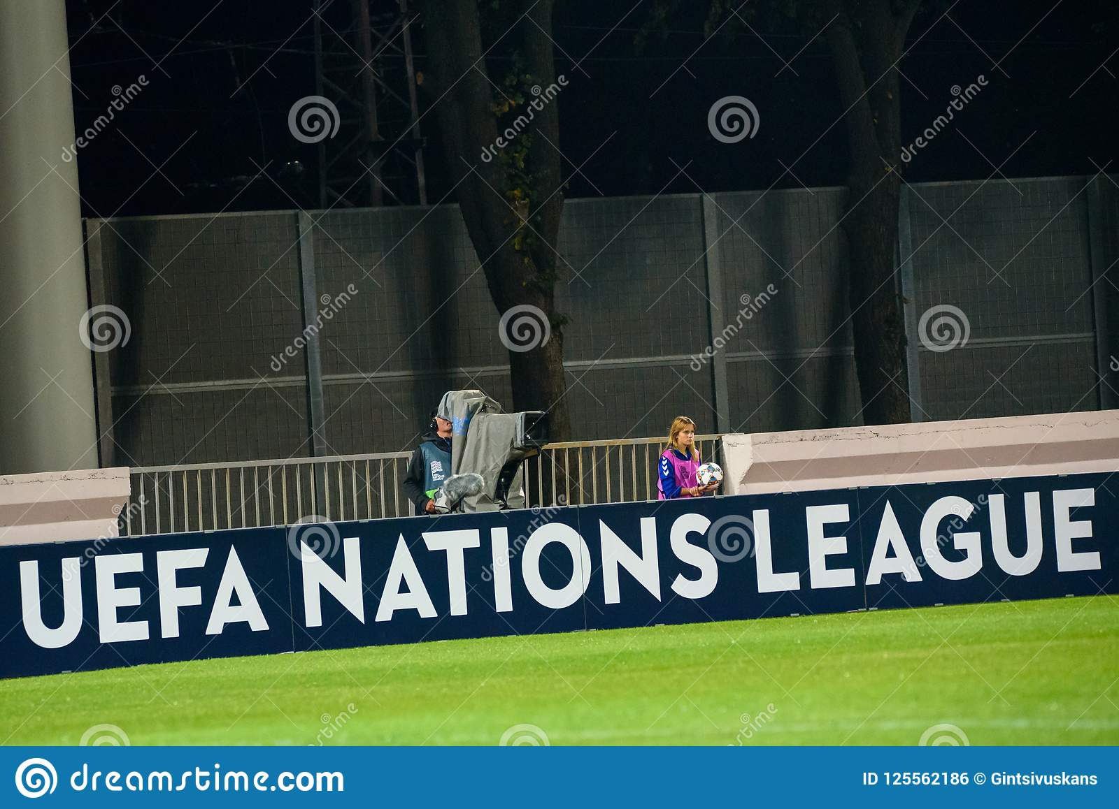 Uefa Nations League Banner At Stadium Editorial Photo Image Of Game Nations 125562186