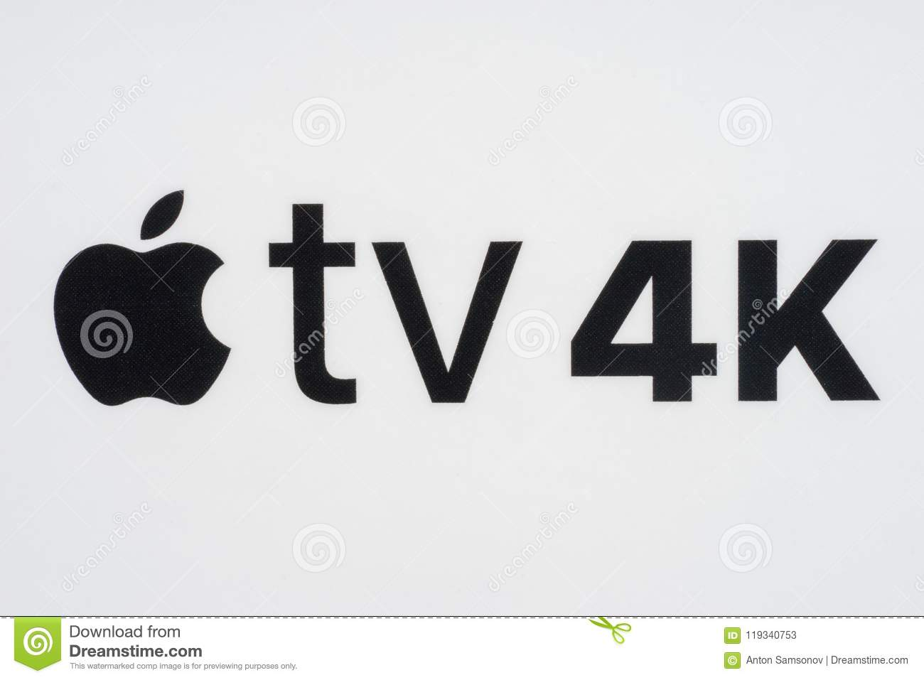 Apple TV 4K editorial stock photo  Image of remote, itunes