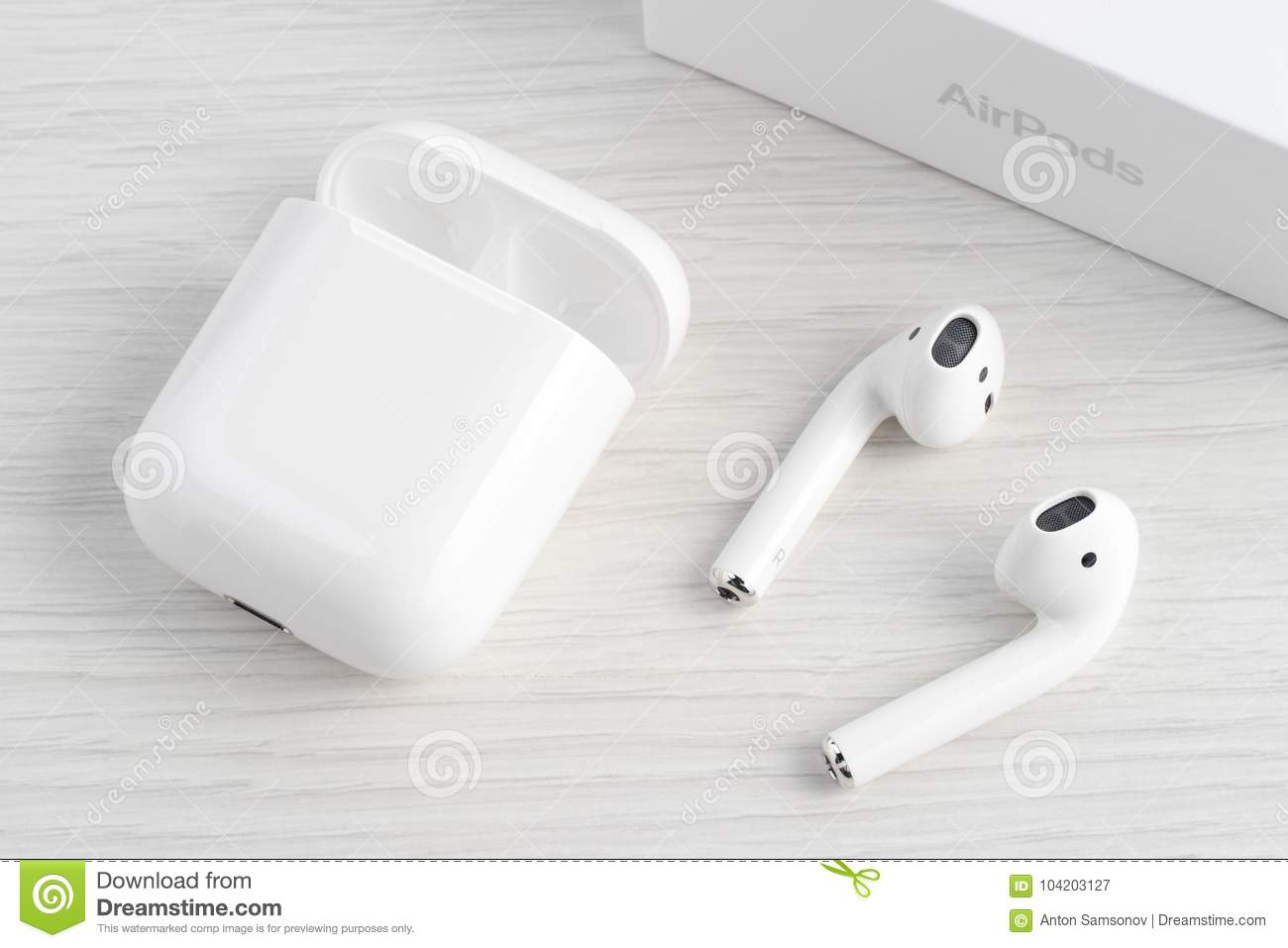 Airpods Wireless Headphones Editorial Photography Image Of