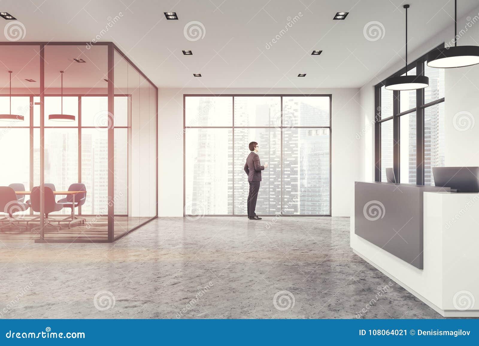 Reception Ufficio Bianco : Ufficio bianco reception tonificata immagine stock immagine di