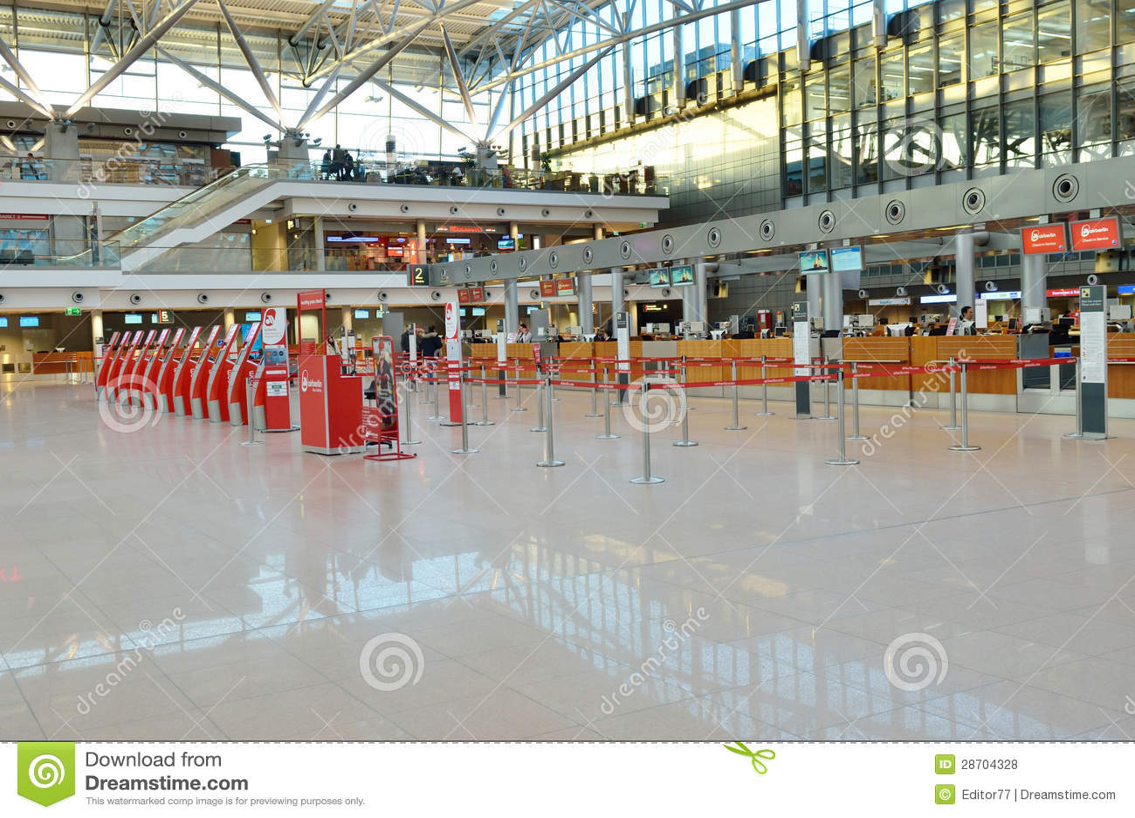 Aeroporto Germania : Ufficio di biglietti all aeroporto hamburg