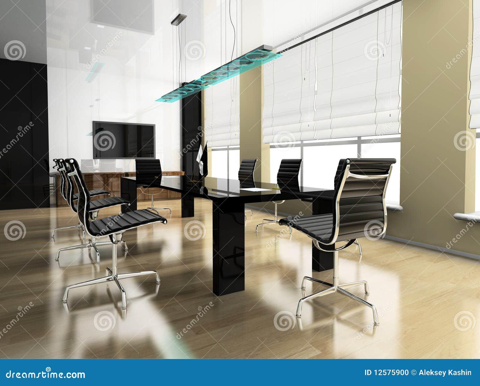 Ufficio moderno interno fotografia stock immagine 12575900 - Arredamento studio casa moderno ...