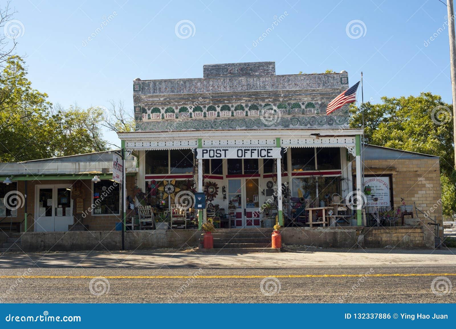 Ufficio postale rurale nel Texas