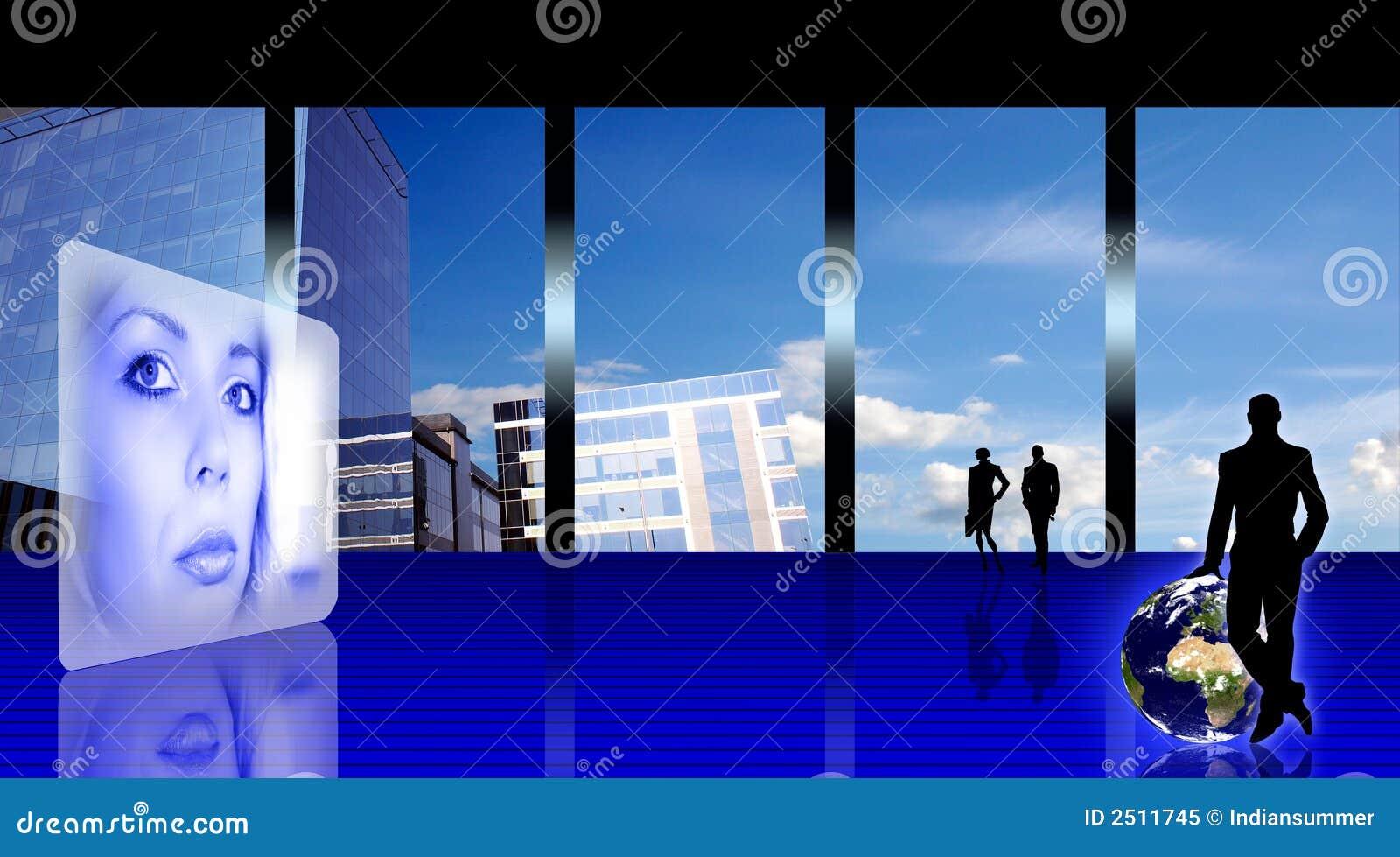 Ufficio Stilizzato Di Affari Fotografia Stock Libera Da