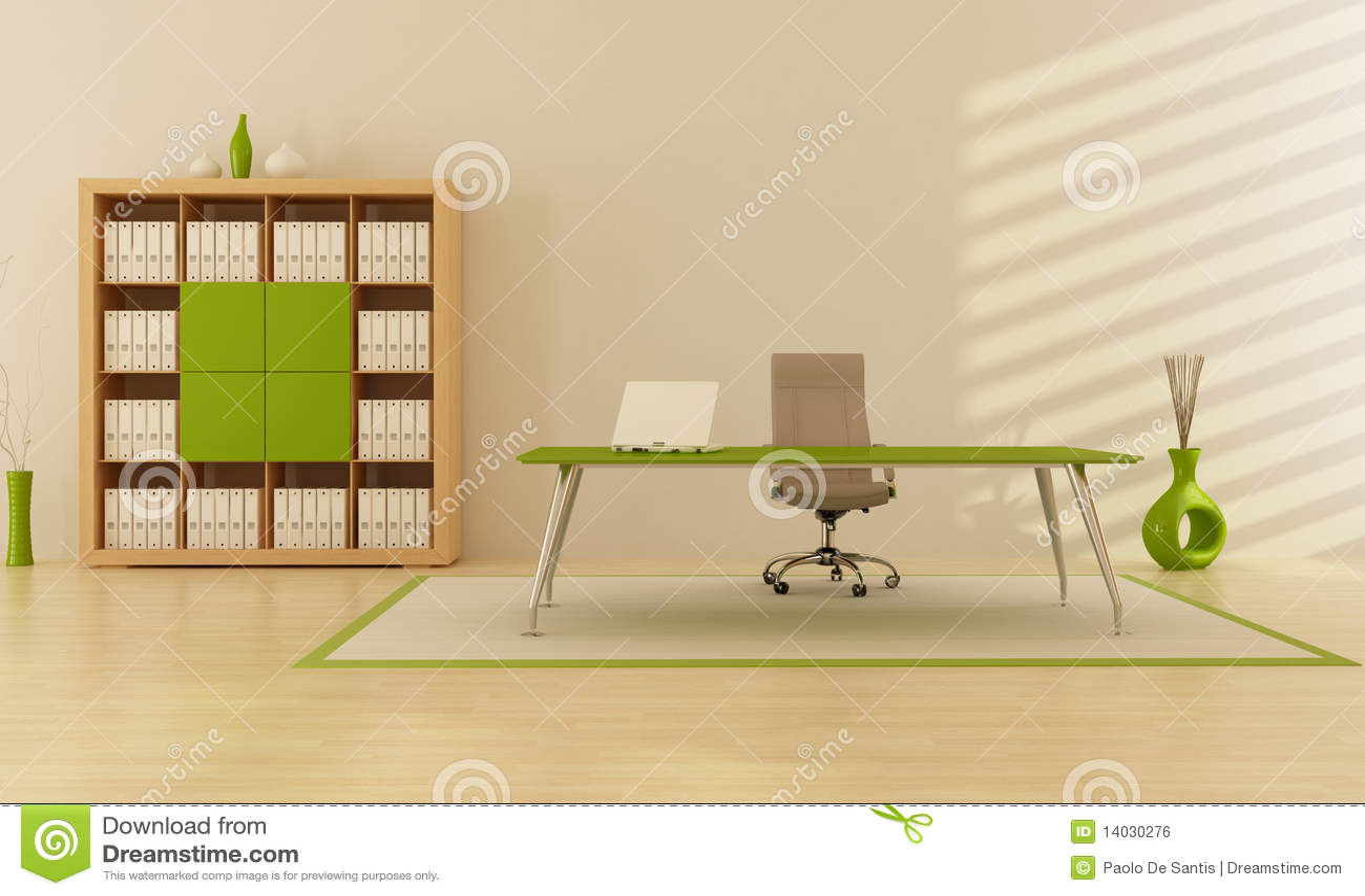 Ufficio verde immagine stock libera da diritti immagine for Ufficio verde