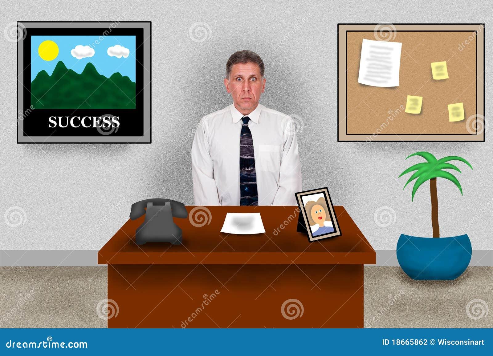 Ufficio virtuale di affari uomo che si siede allo for Ufficio virtuale