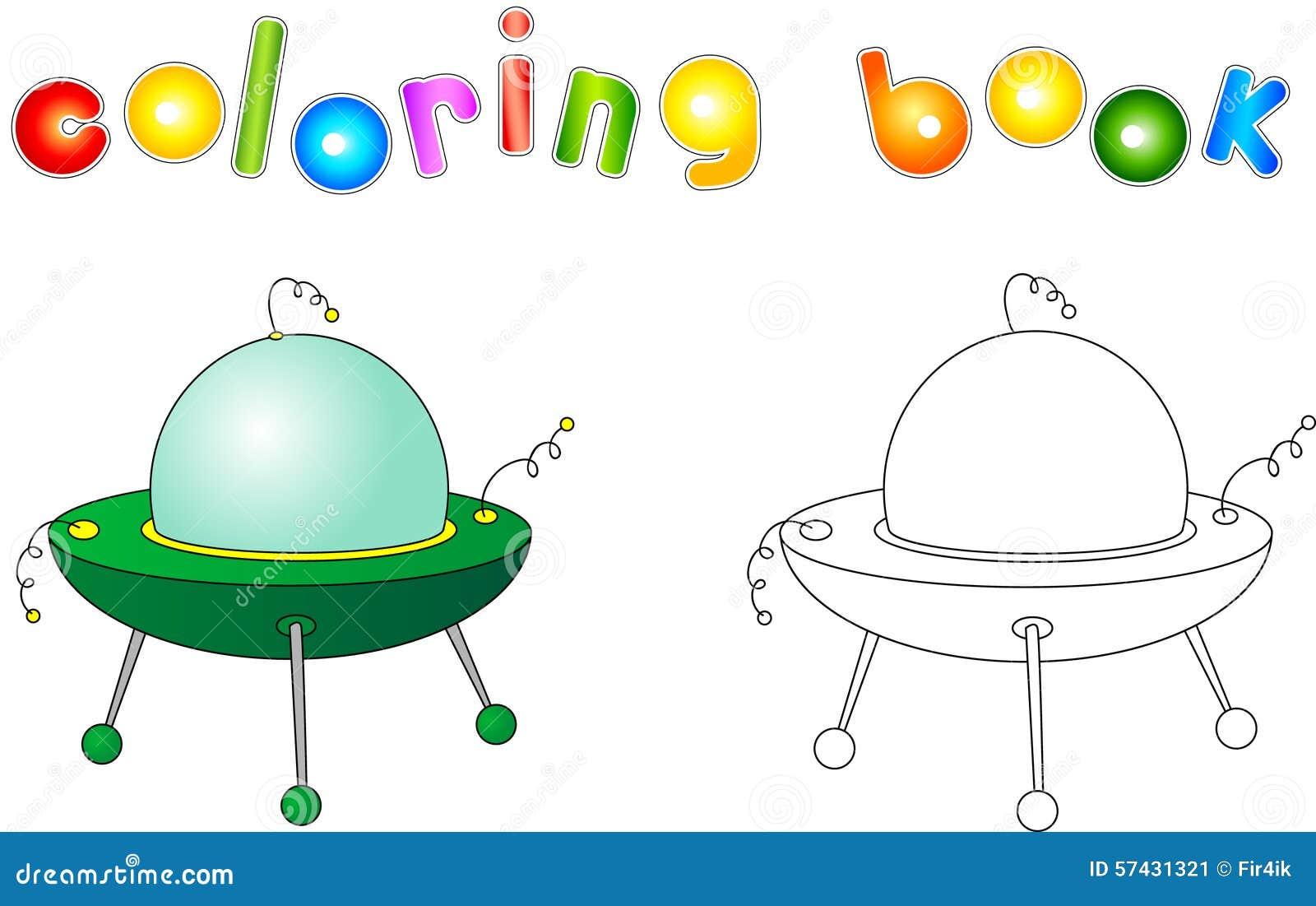 Bonito Ufo Para Colorear Viñeta - Enmarcado Para Colorear ...