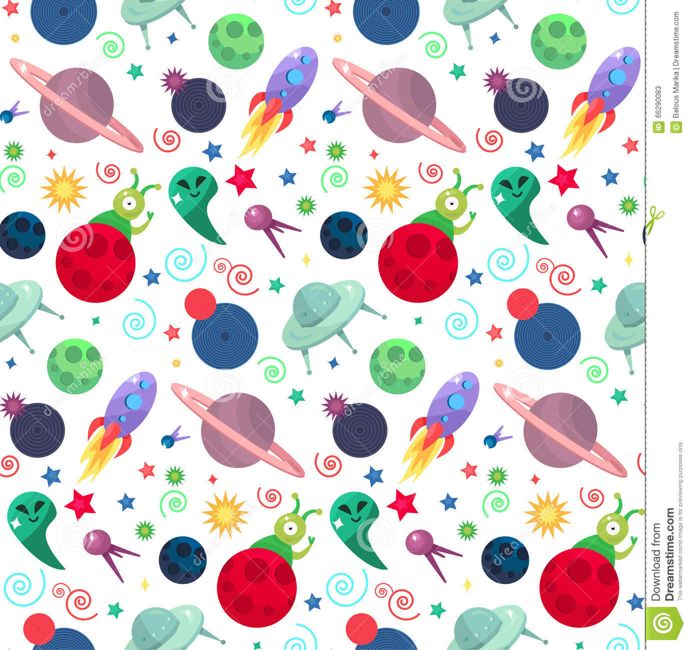 Ufo cosmos pattern stock illustration image of orbit for Planet print fabric