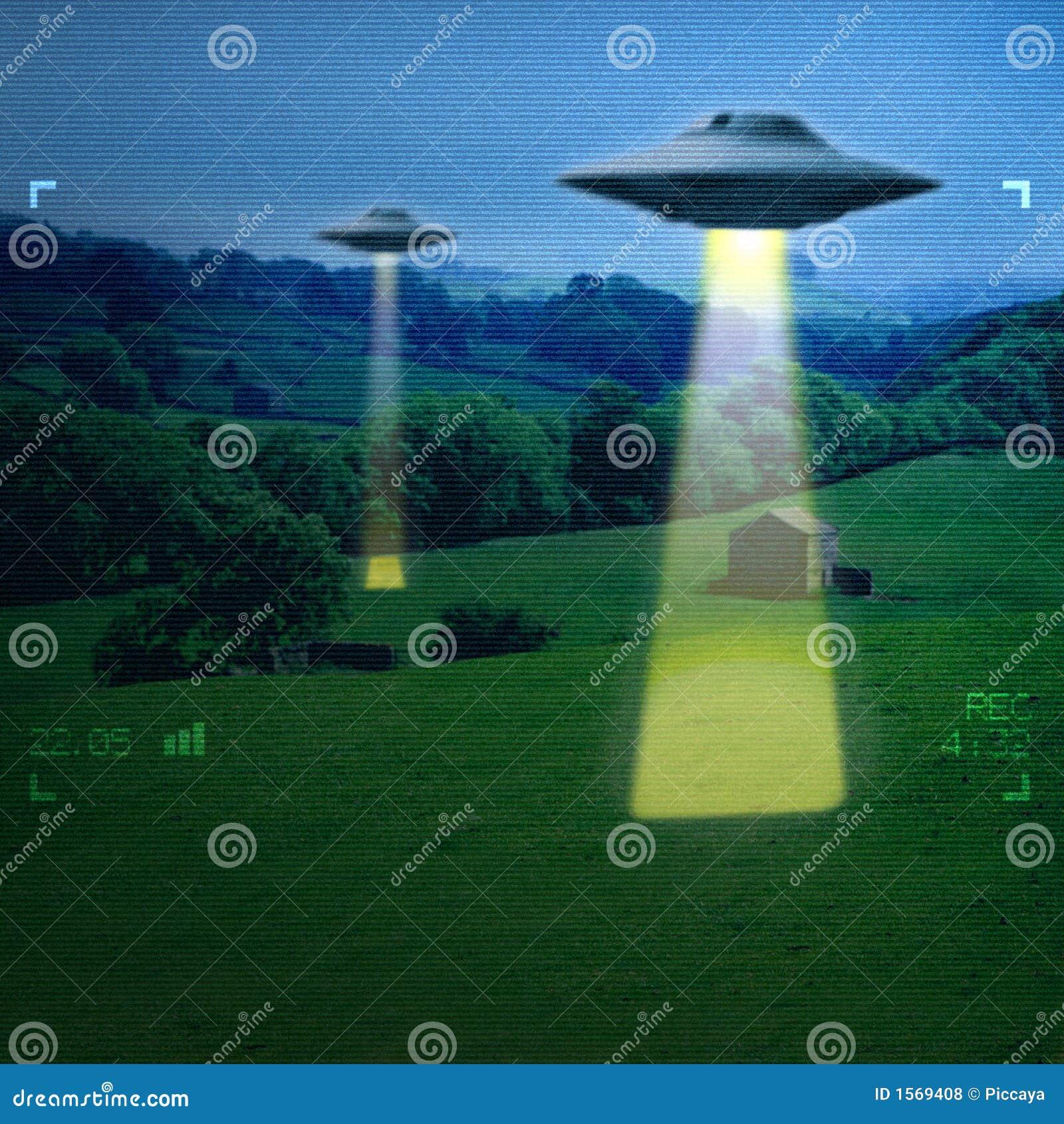 UFO em um prado