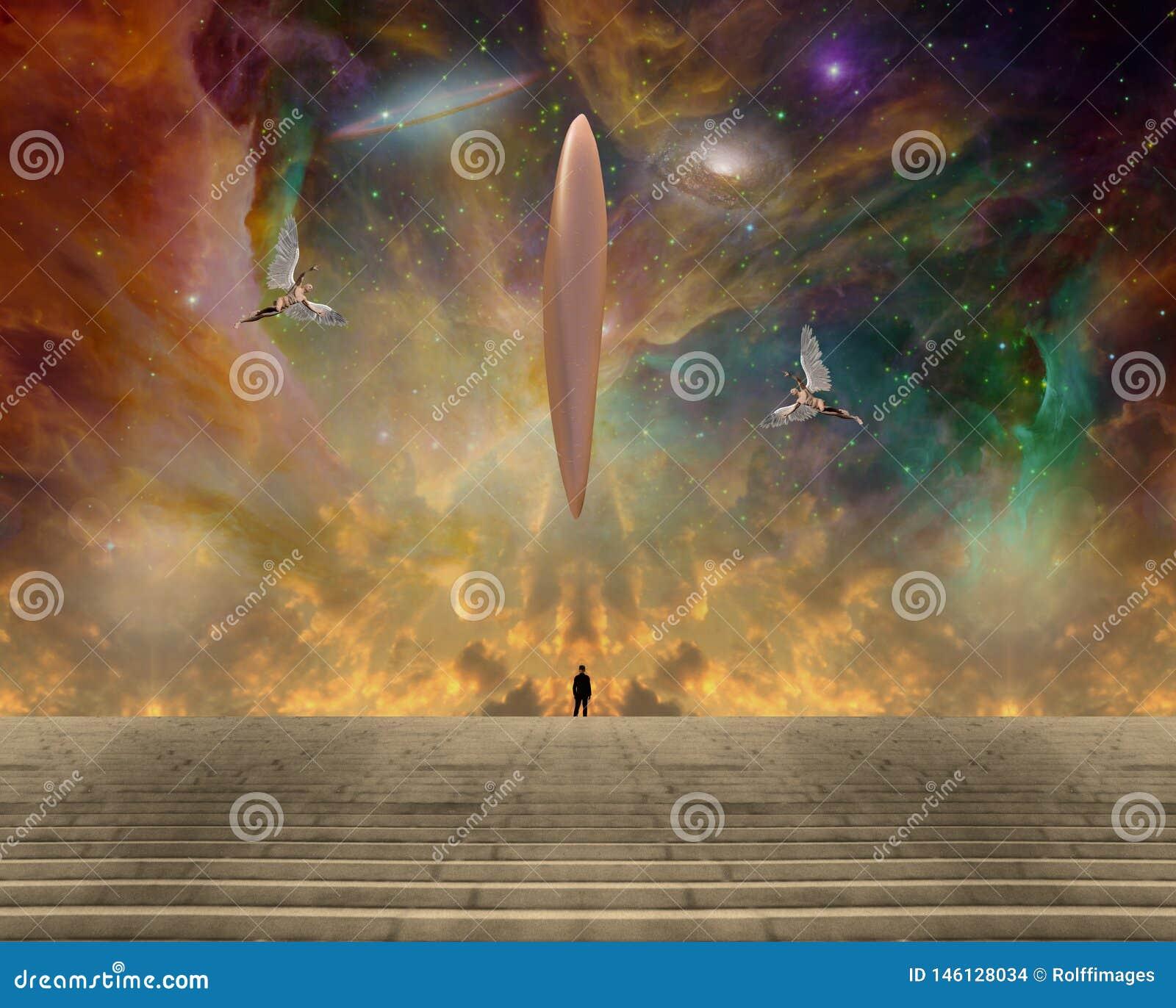 UFO en engelen