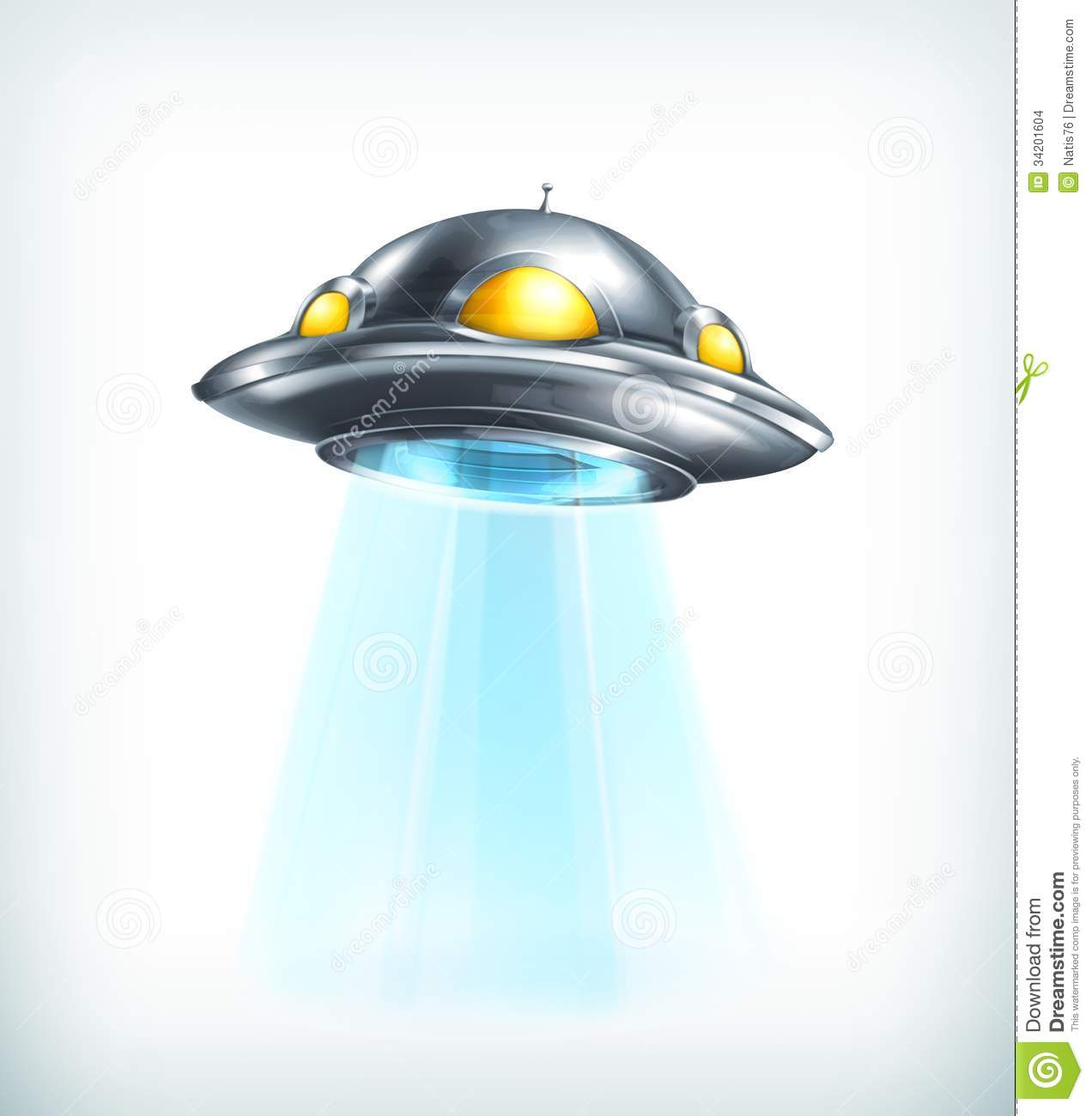 UFO icon, illustration on white background.