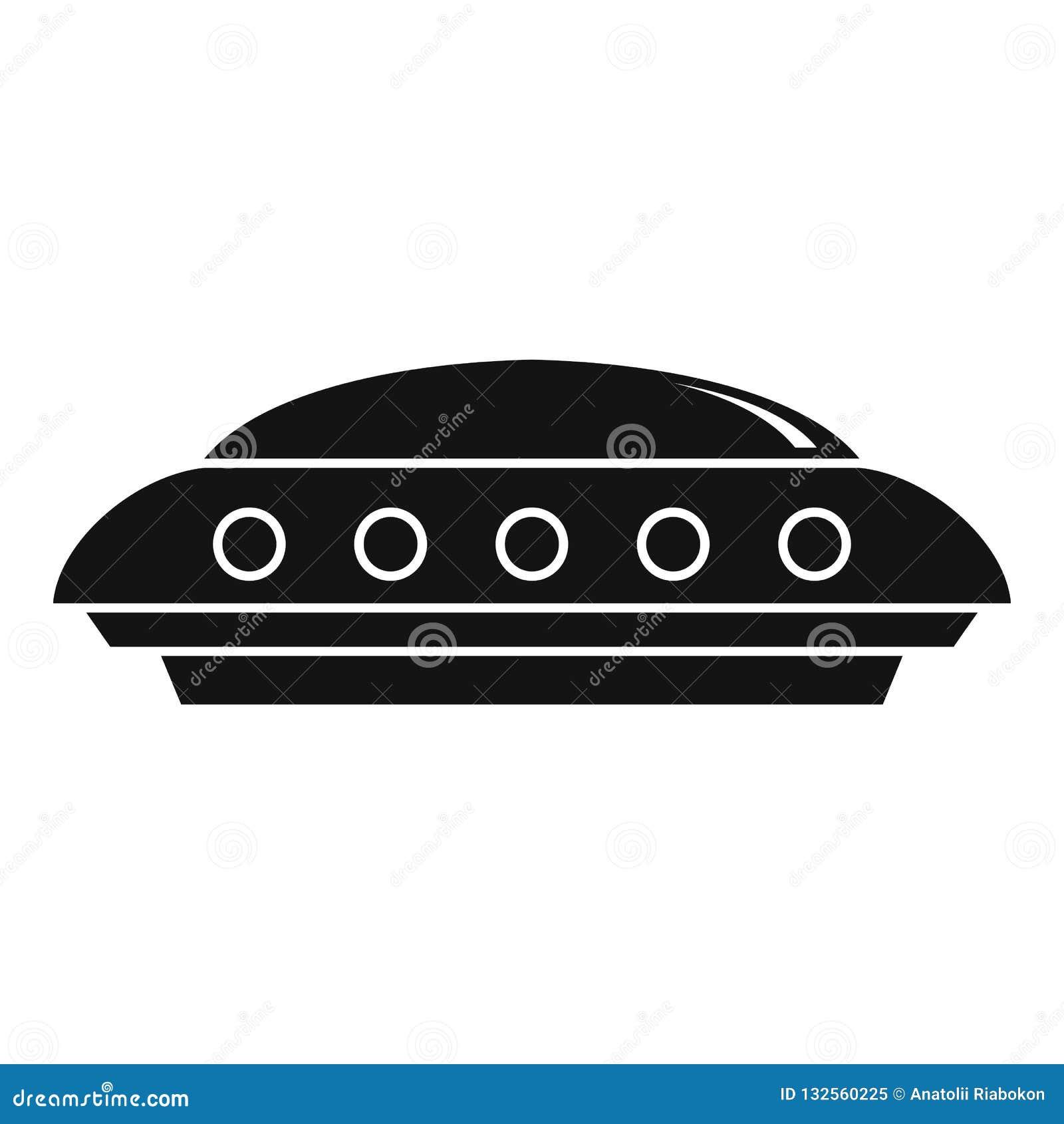 UFO ikona, prosty styl