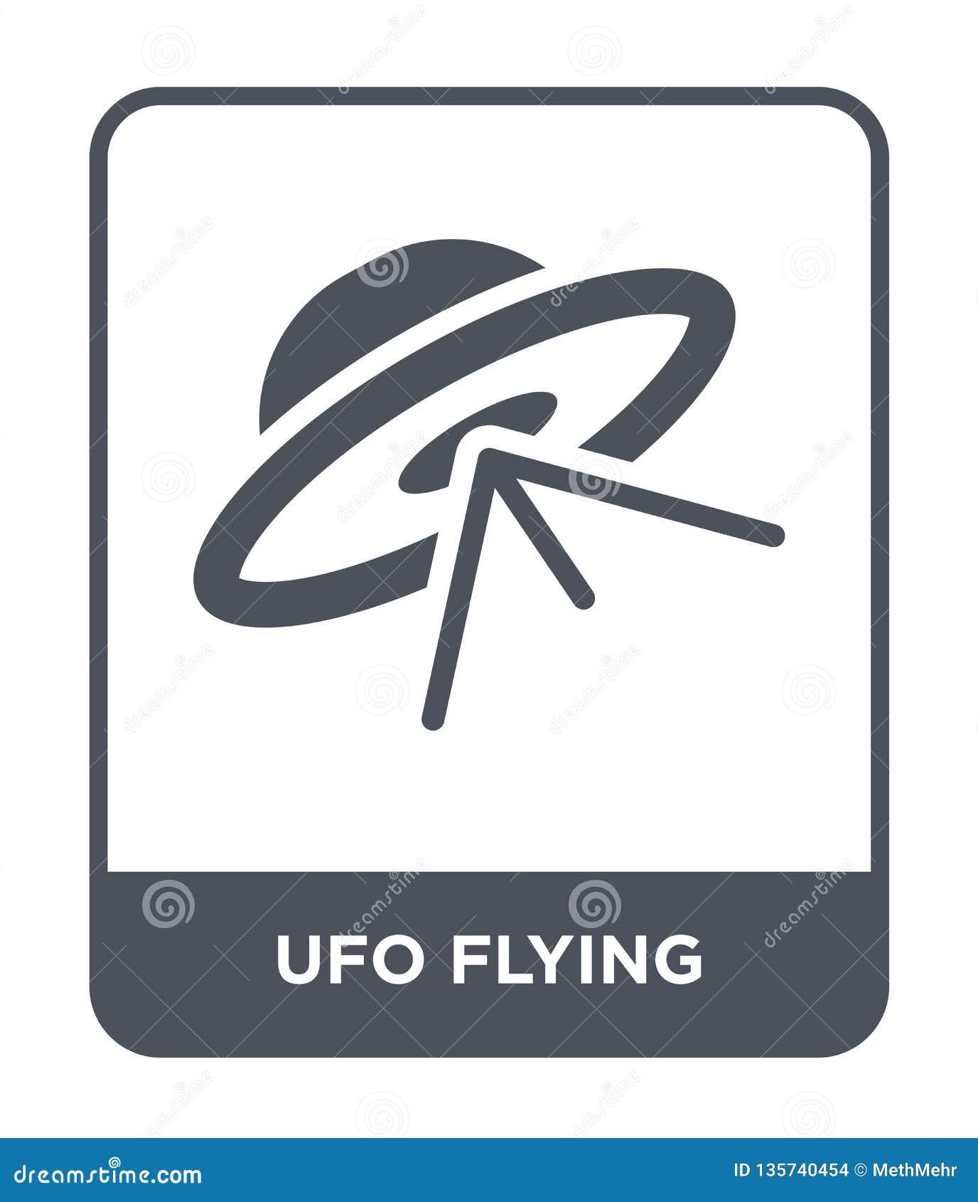 Ufo latająca ikona w modnym projekta stylu ufo latająca ikona odizolowywająca na białym tle ufo latająca wektorowa ikona prosta i