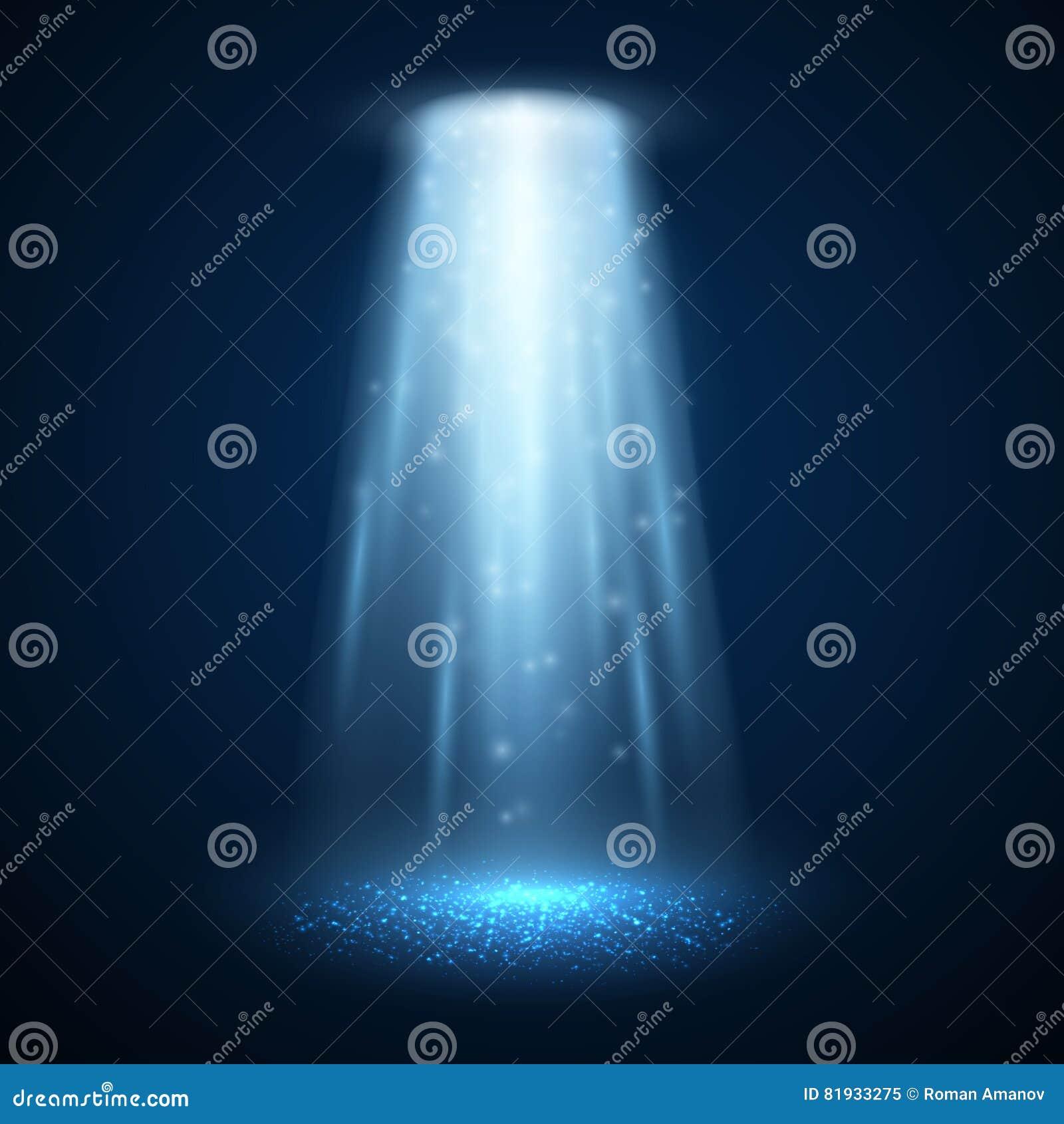 UFO lekki promień również zwrócić corel ilustracji wektora