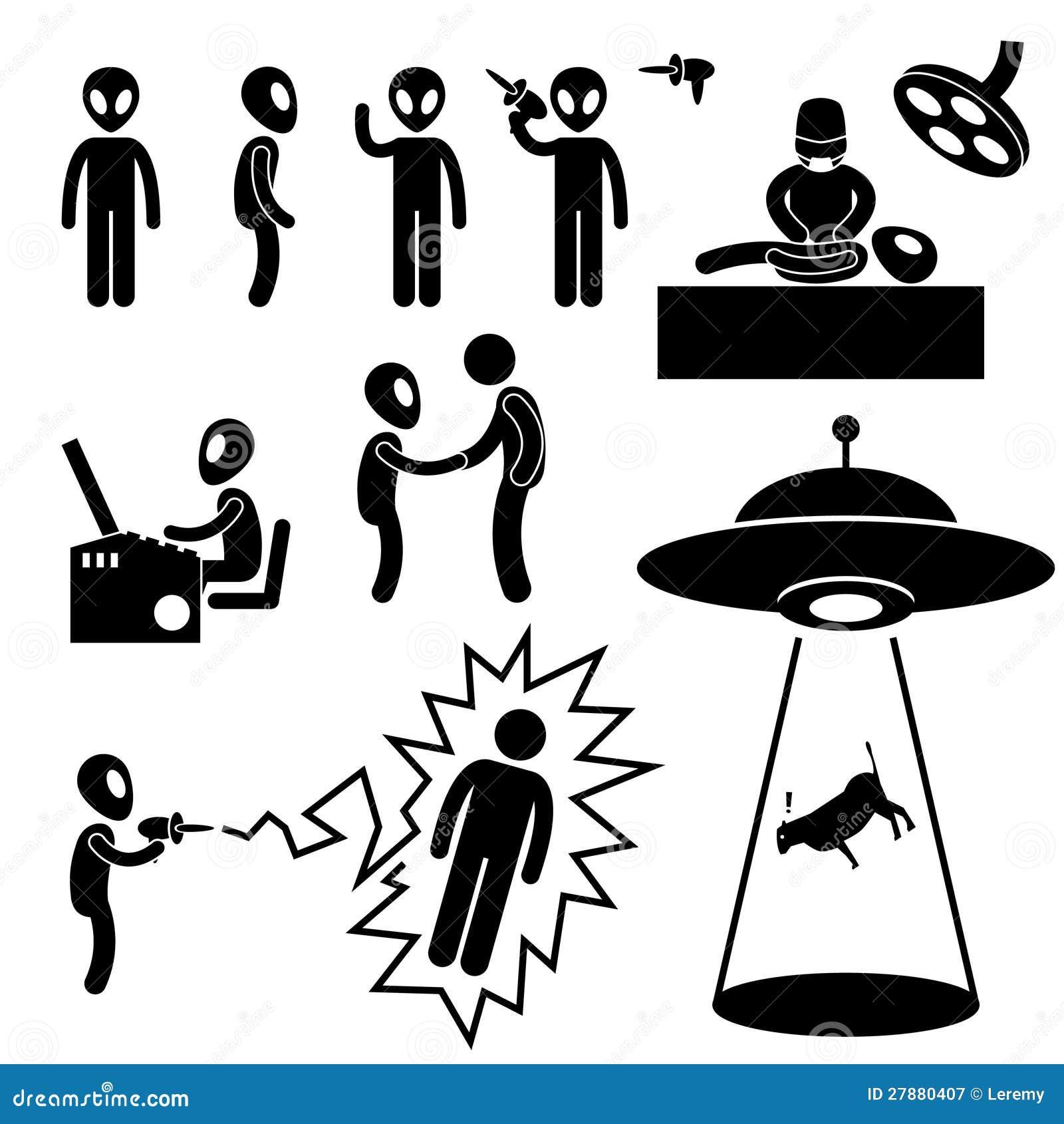 UFO Obcy Najeźdźc Piktogram