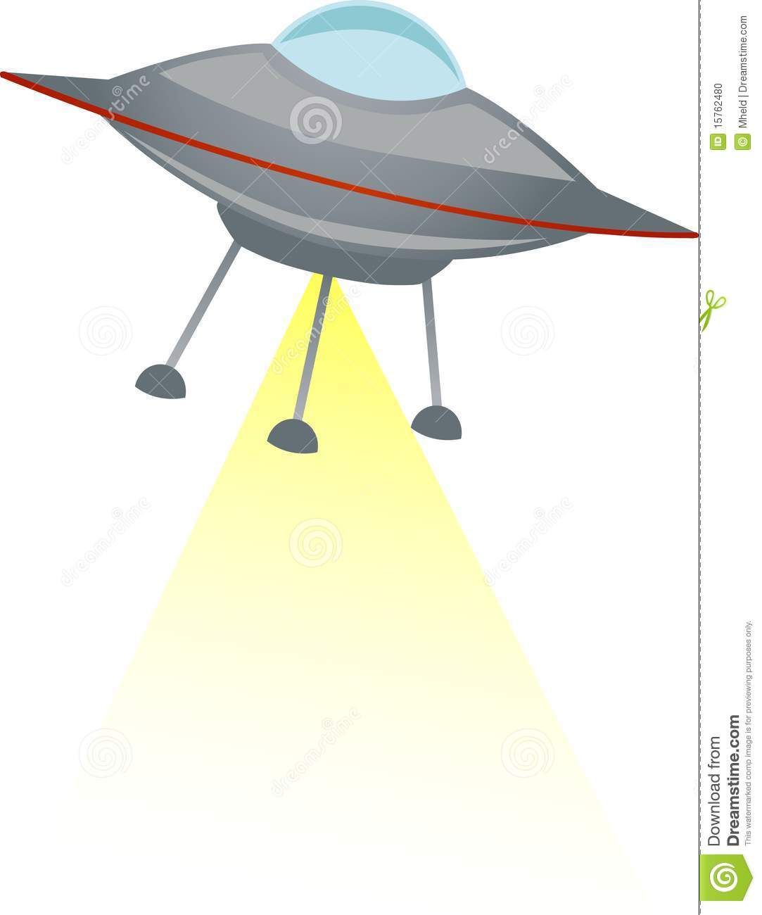 Ufo shooting yellow beam