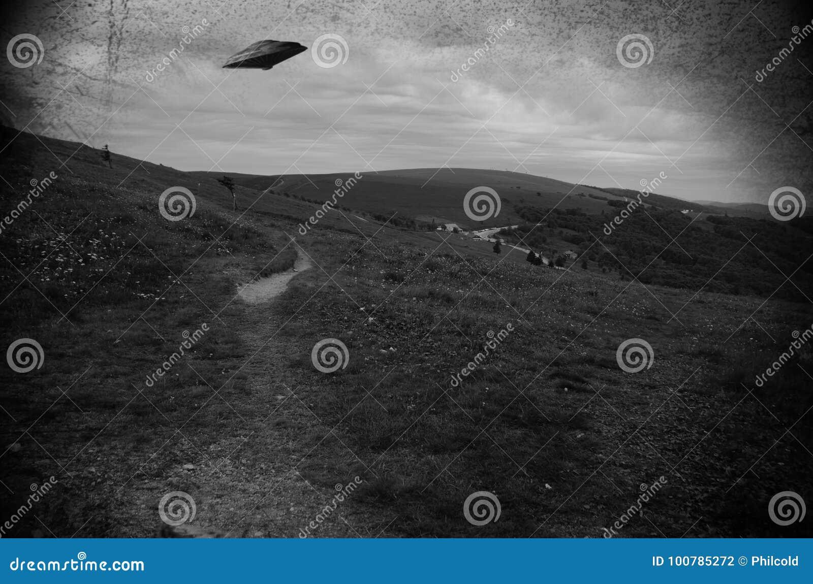 UFO sobre os campos