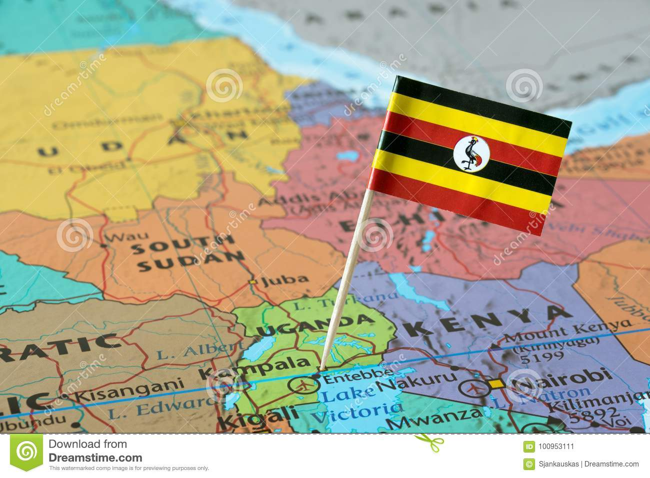 Uganda flag on a map stock image image of area east 100953111 download comp gumiabroncs Image collections