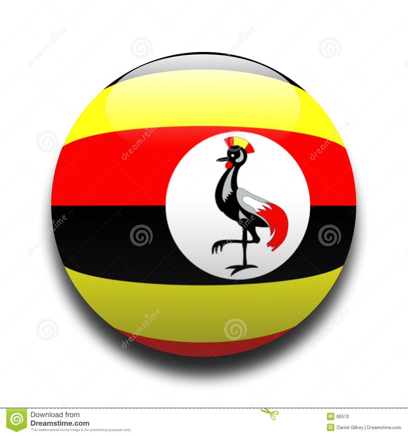 Ugandan flag stock illustration. Illustration of patriotic ...
