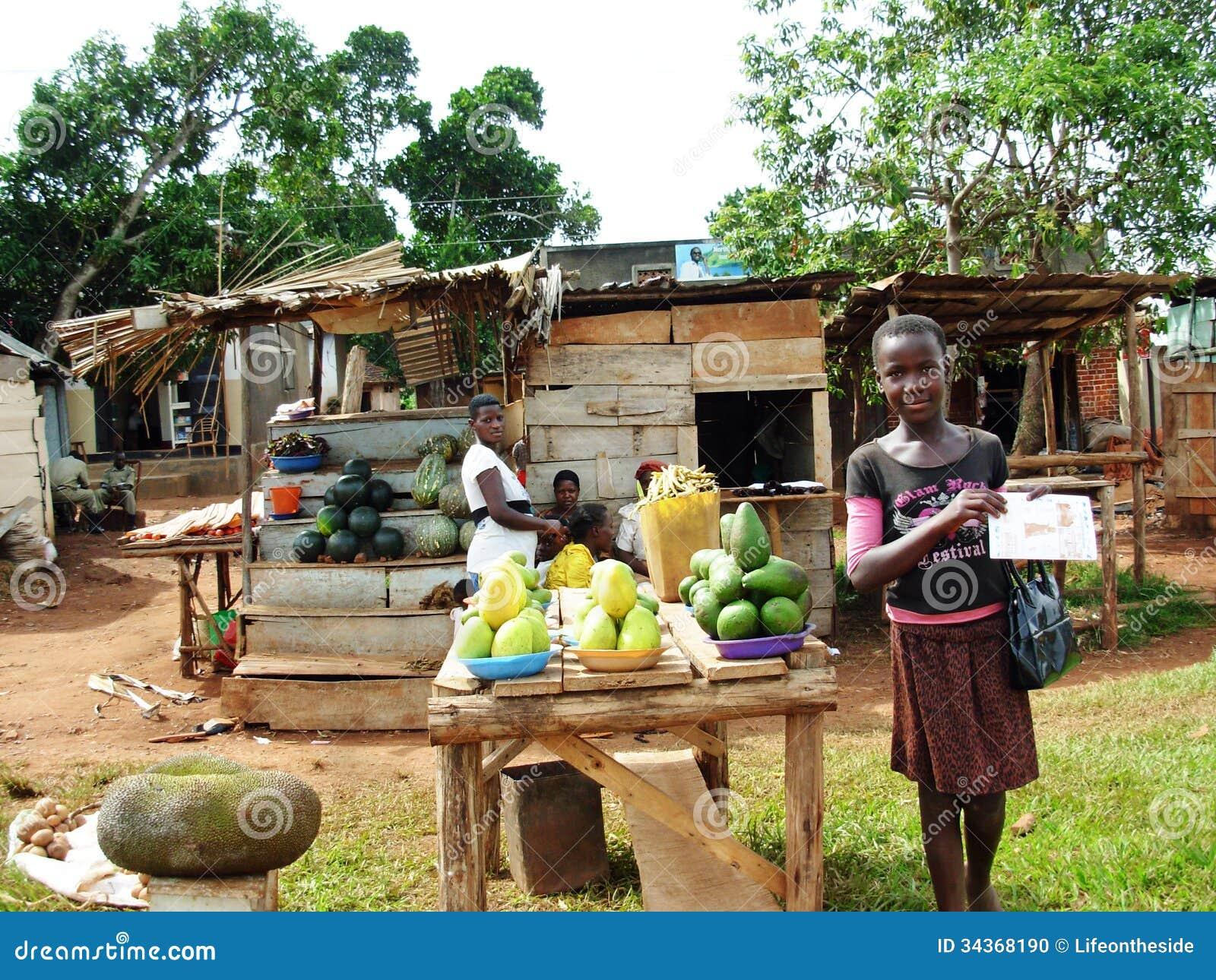 Ugandan Women Selling Local Fruit On Road Side Editorial Image - Image 34368190-5773