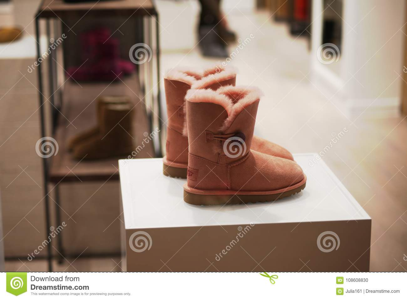 ba2766c48360 UGG sheep skin boots for sale in GUM department store