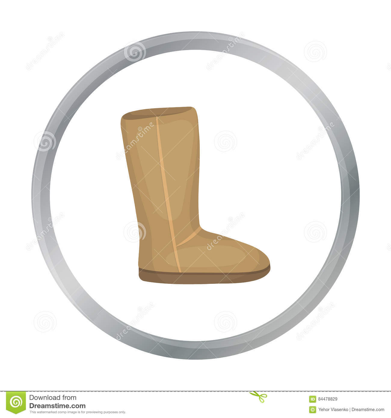 1911dbccc07 Ugg Boots Icon In Cartoon Style Isolated On White Background. Stock ...