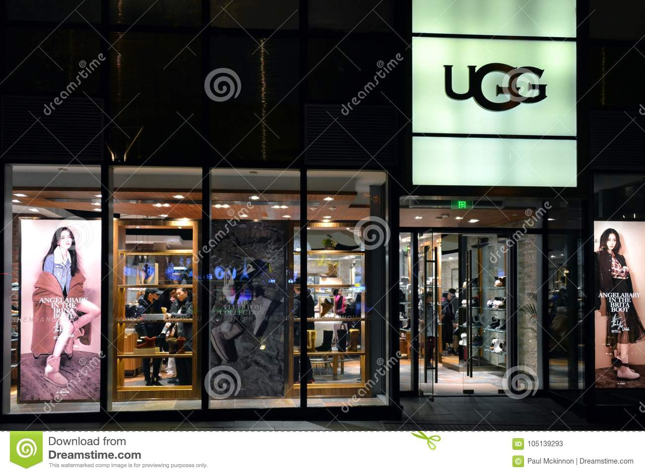 UGG store in Beijing editorial stock photo. Image of name - 105139293 a71998875352