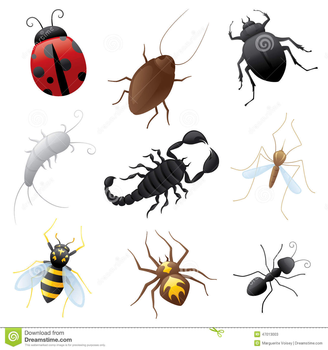 ugly buglies stock vector image 47013003 clip art bug bites clip art bugs insects