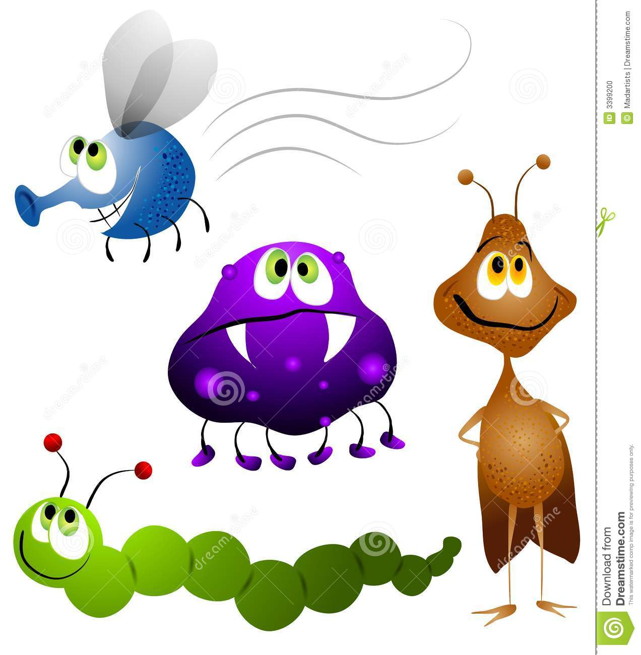 ugly cartoon bugs insects stock illustration illustration of rh dreamstime com insect clip art border insects clipart