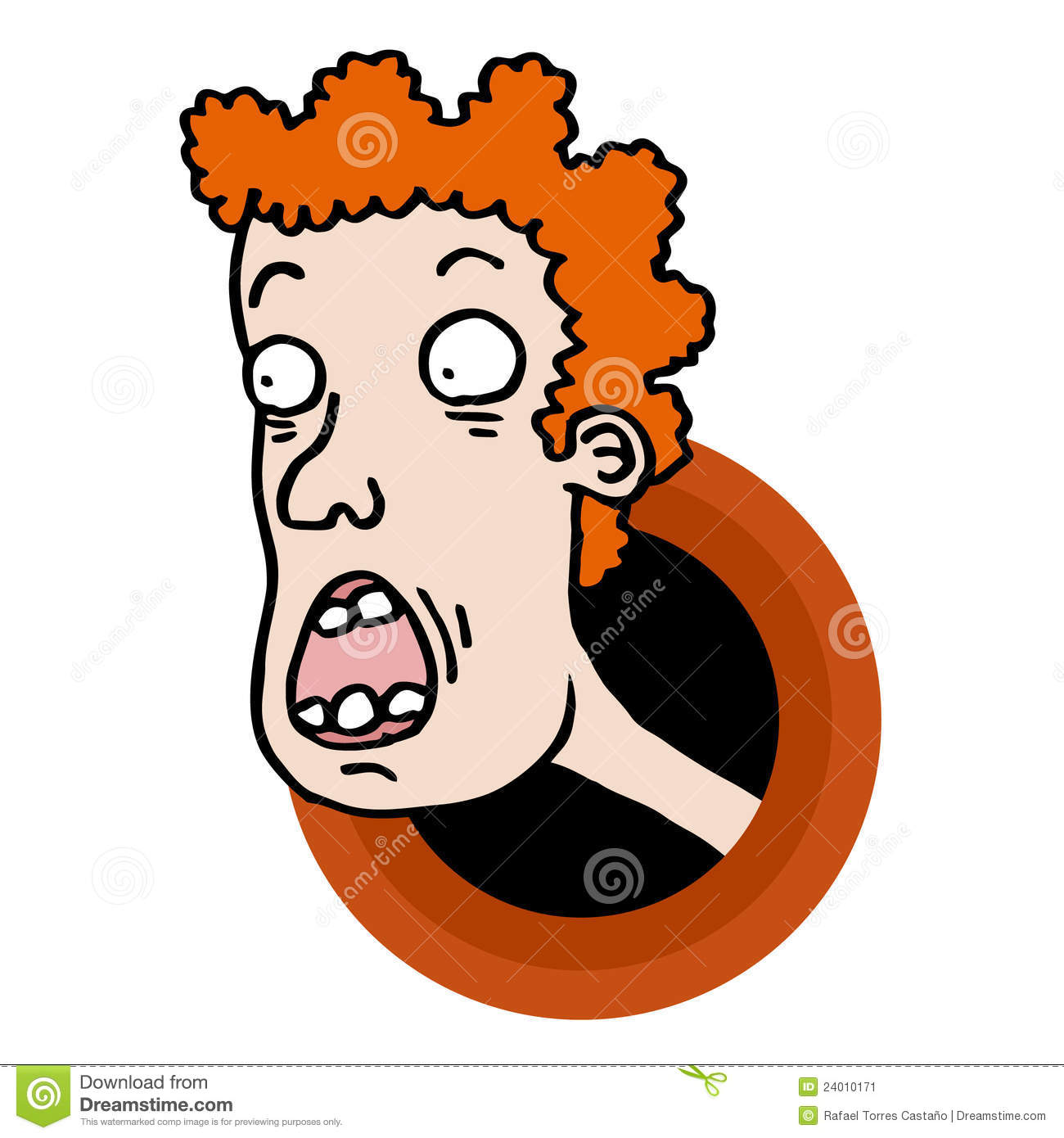 Cartoon Characters Ugly : Ugly cartoon face stock image